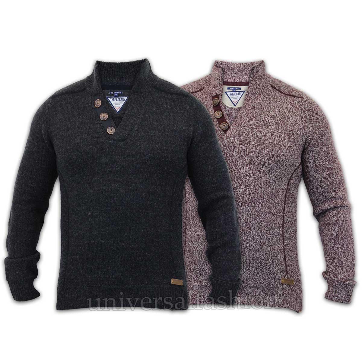 Mens-Jumper-Threadbare-Wool-Mix-Knitted-Pullover-Top-Sweater-Casual-Winter-New thumbnail 4