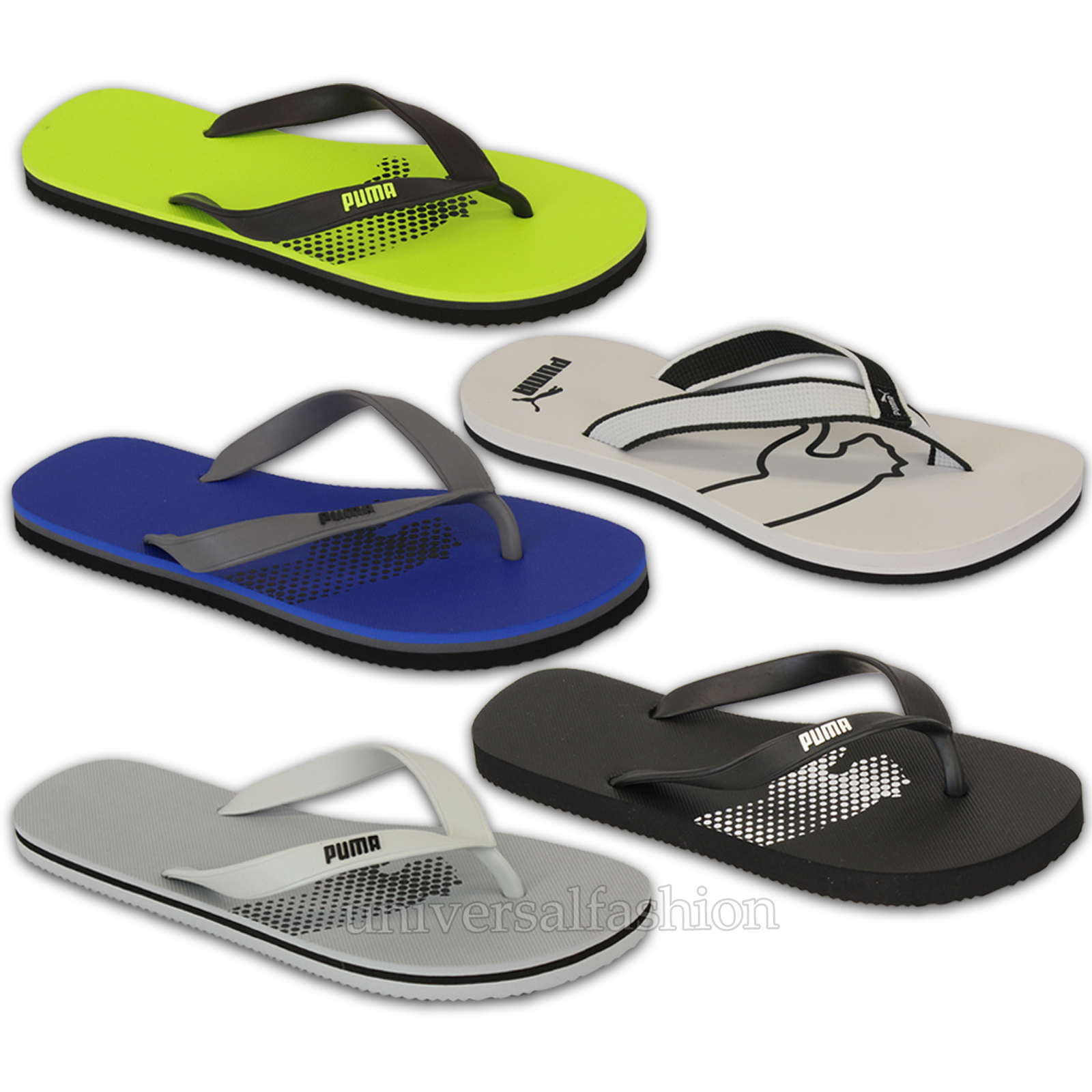 34569f704f7b4 Mens PUMA Flip Flops CAT Slippers Thong Walking Beach Holiday ...