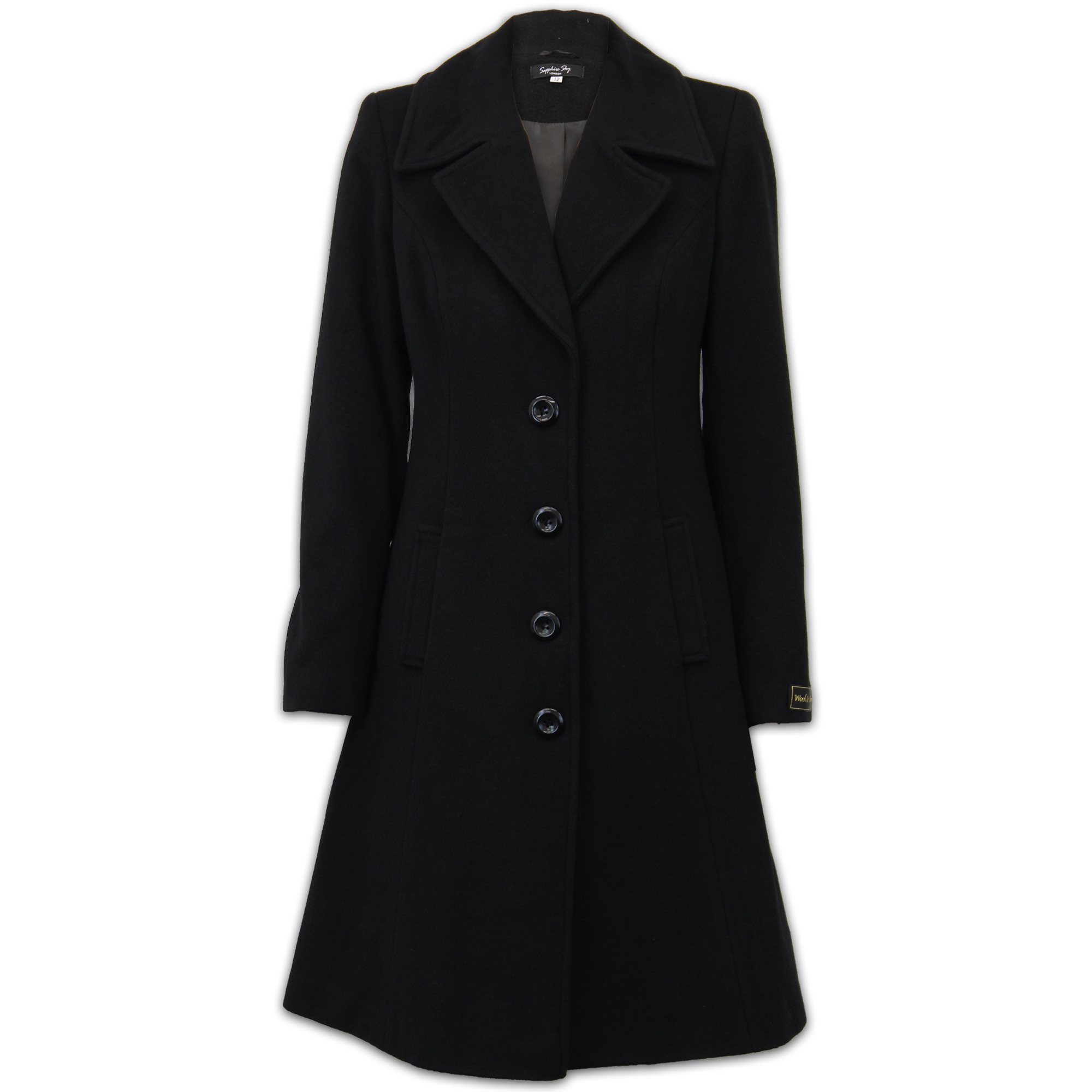 limited quantity find lowest price hot-seeling original Details about Ladies Wool Cashmere Coat Womens Jacket Outerwear Trench  Overcoat Winter Lined