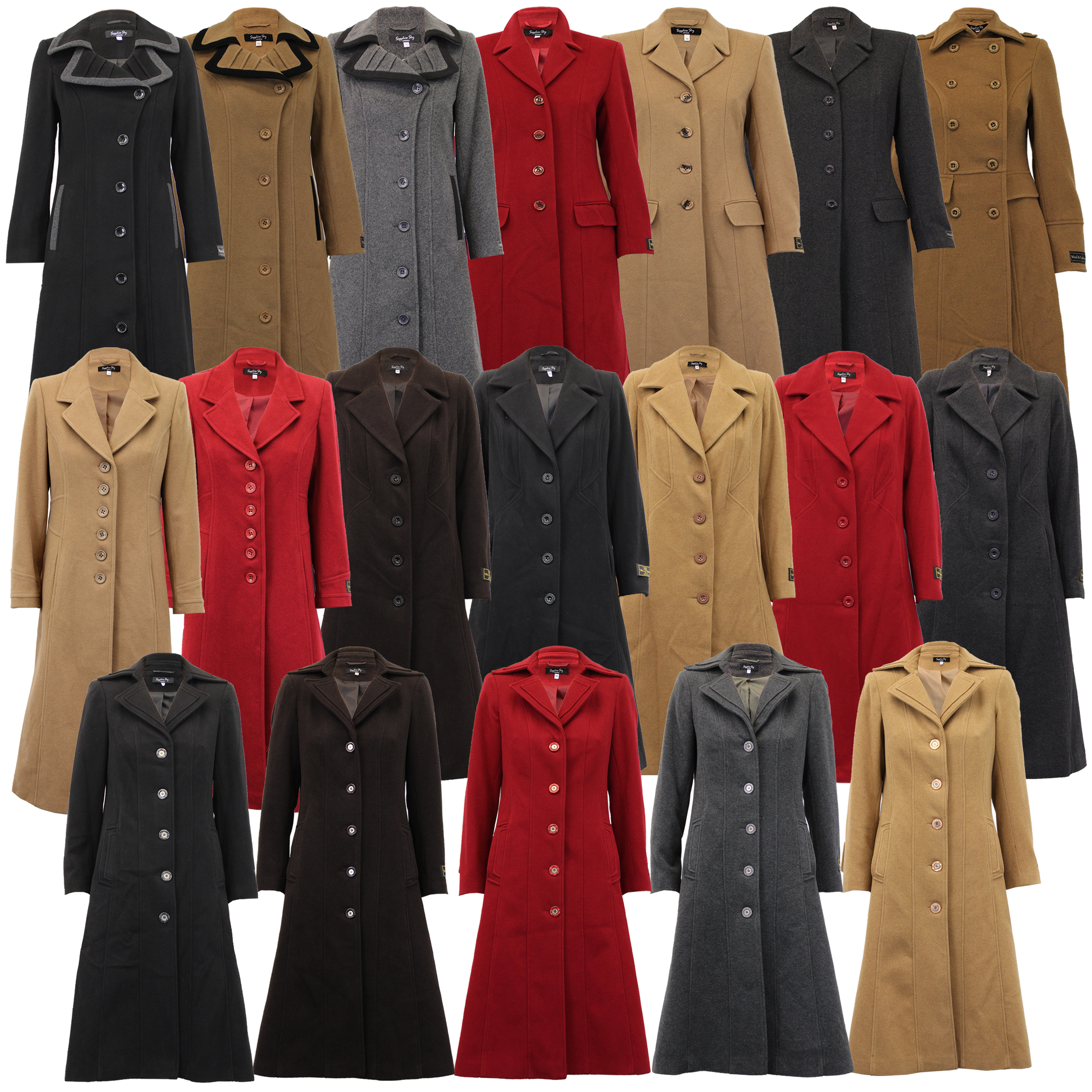 Ladies-Wool-Cashmere-Coat-Women-Jacket-Outerwear-Trench-Overcoat-Winter-Lined thumbnail 6