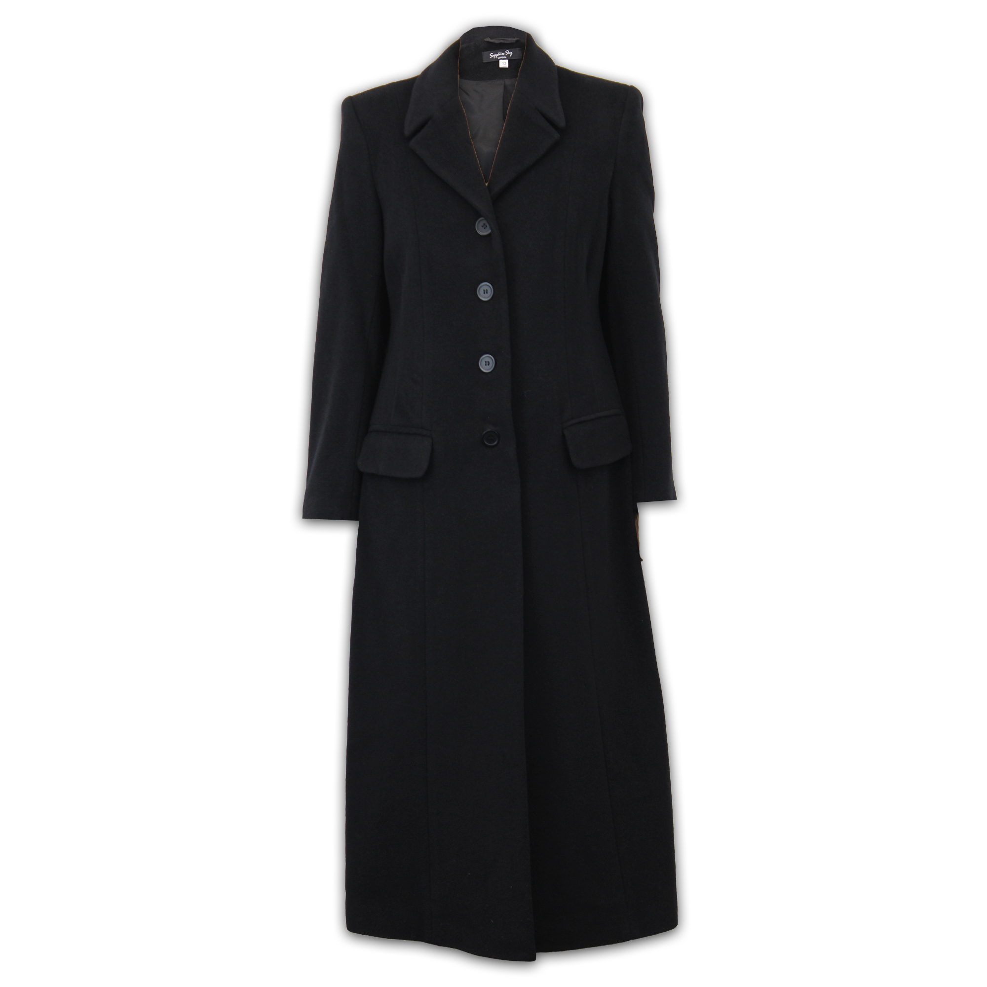 Ladies-Wool-Cashmere-Coat-Women-Jacket-Outerwear-Trench-Overcoat-Winter-Lined thumbnail 4