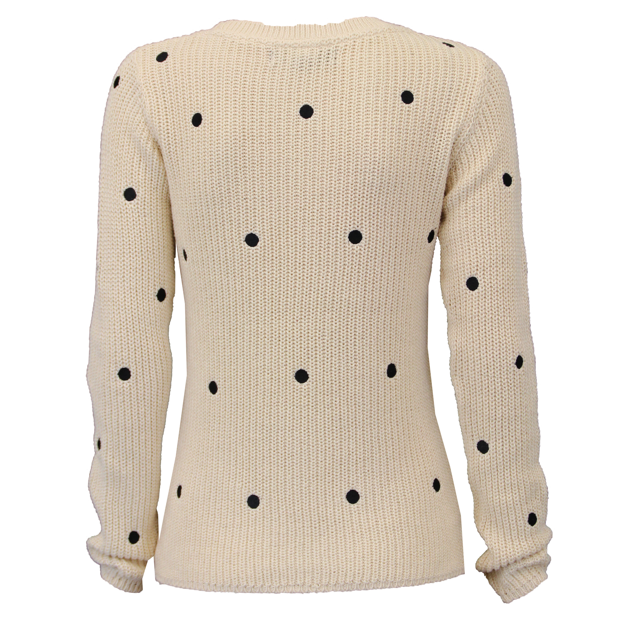 Ladies Jumpers Womens Knitted Top Pullover Sweater Polka Dot Amara ... 73547153c