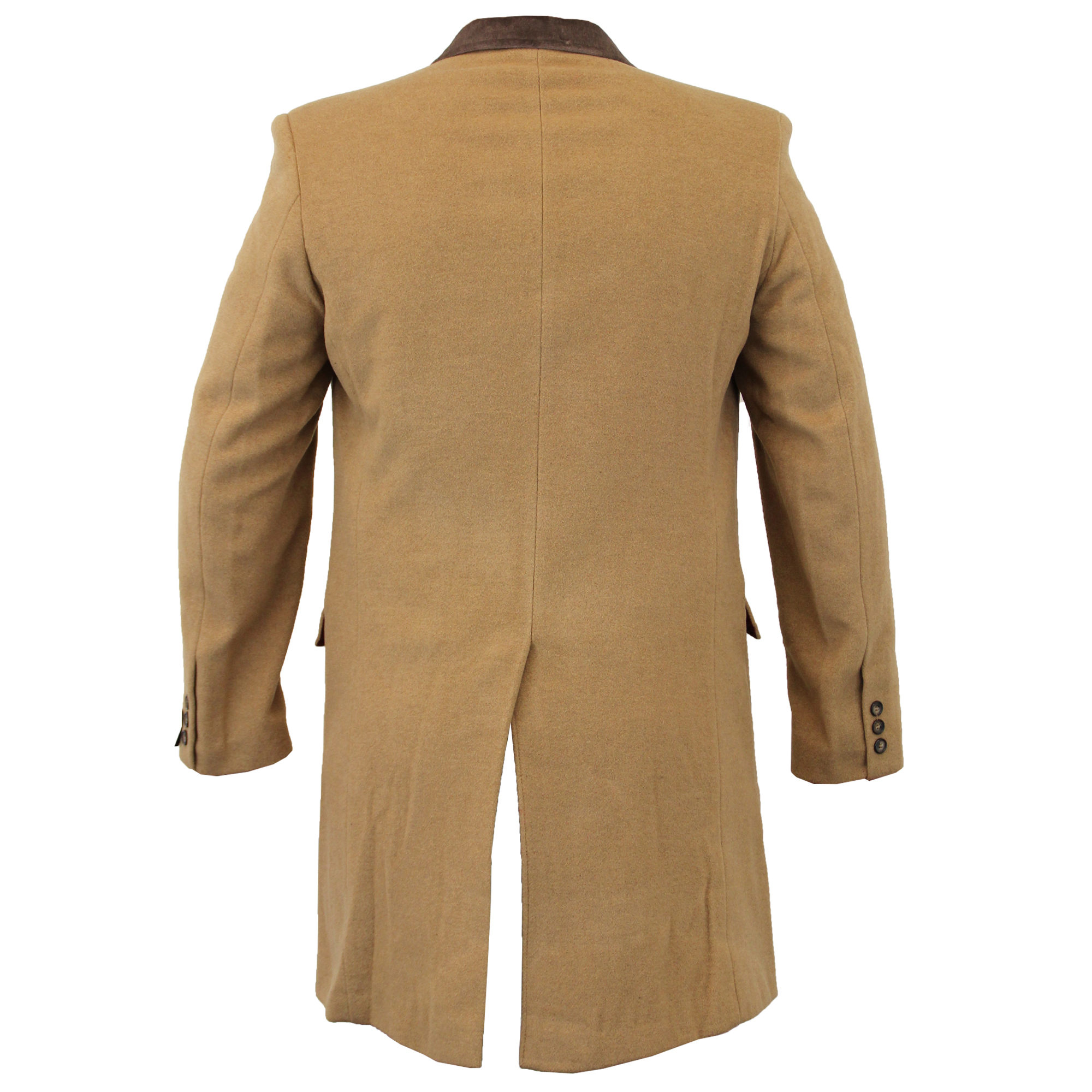 Para-Hombre-Abrigo-Chaqueta-de-lana-cashmere-Casual-abrigos-Abrigo-Trench-Forro-De-Invierno miniatura 11