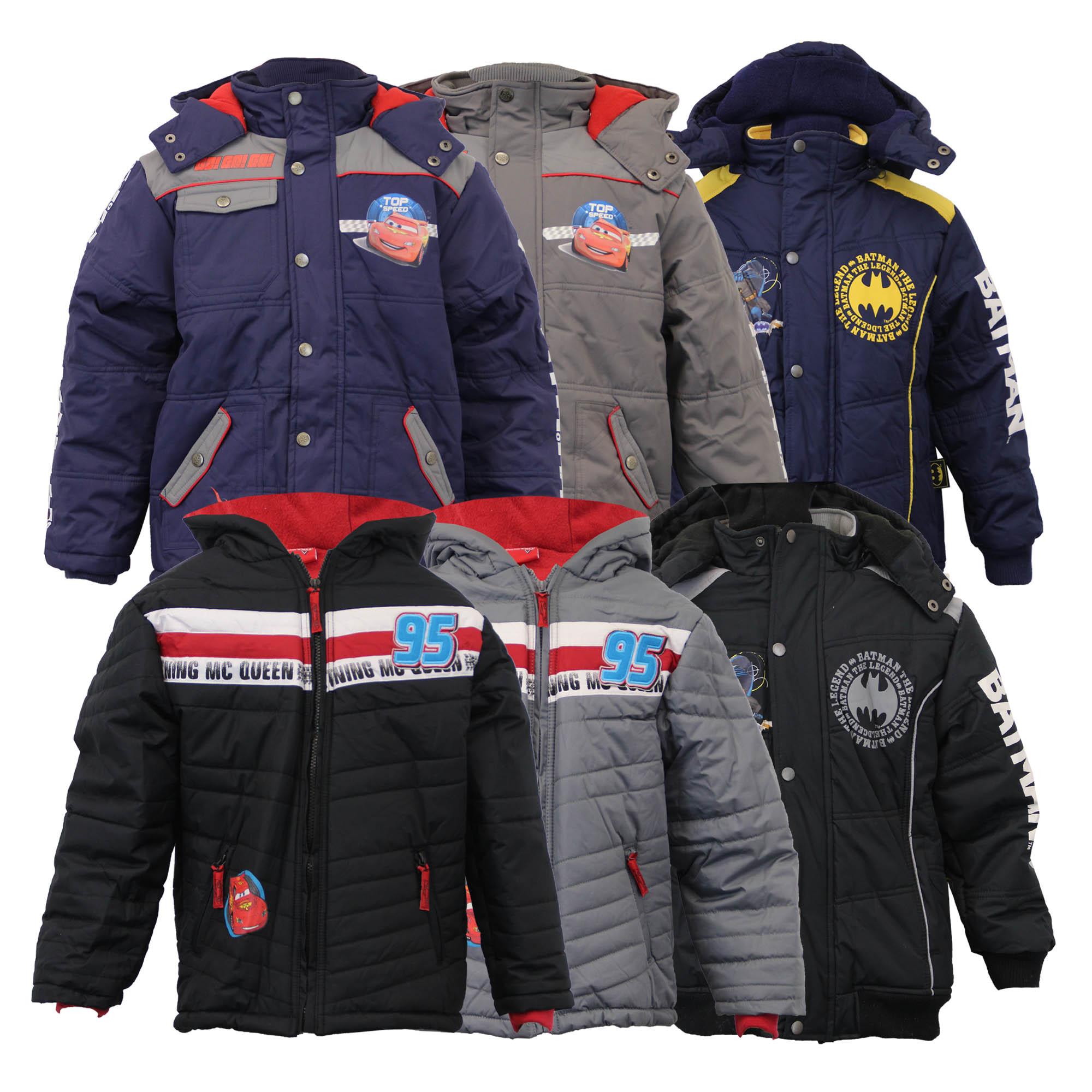 Boys Batman Jackets Kids Coat Hooded Padded Fleece