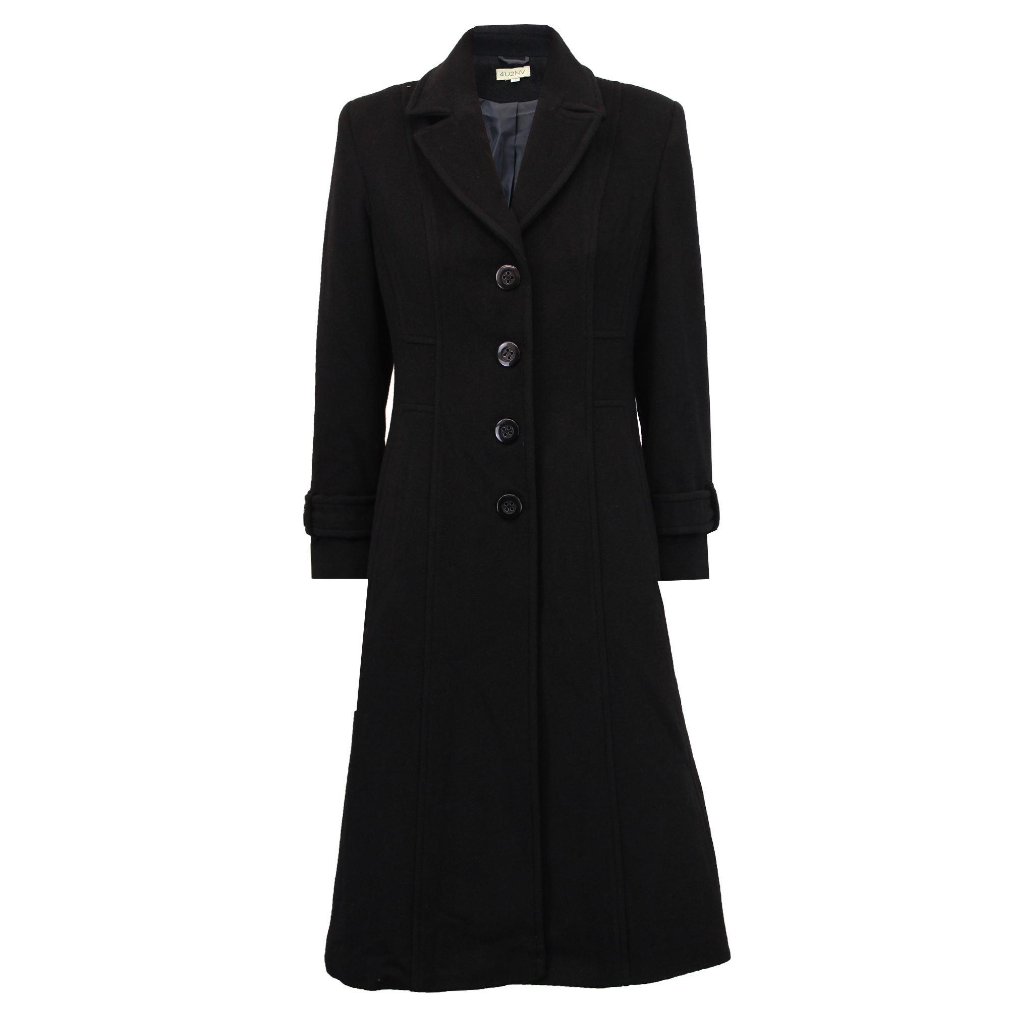 Ladies-Wool-Cashmere-Coat-Women-Jacket-Outerwear-Trench-Overcoat-Winter-Lined thumbnail 13