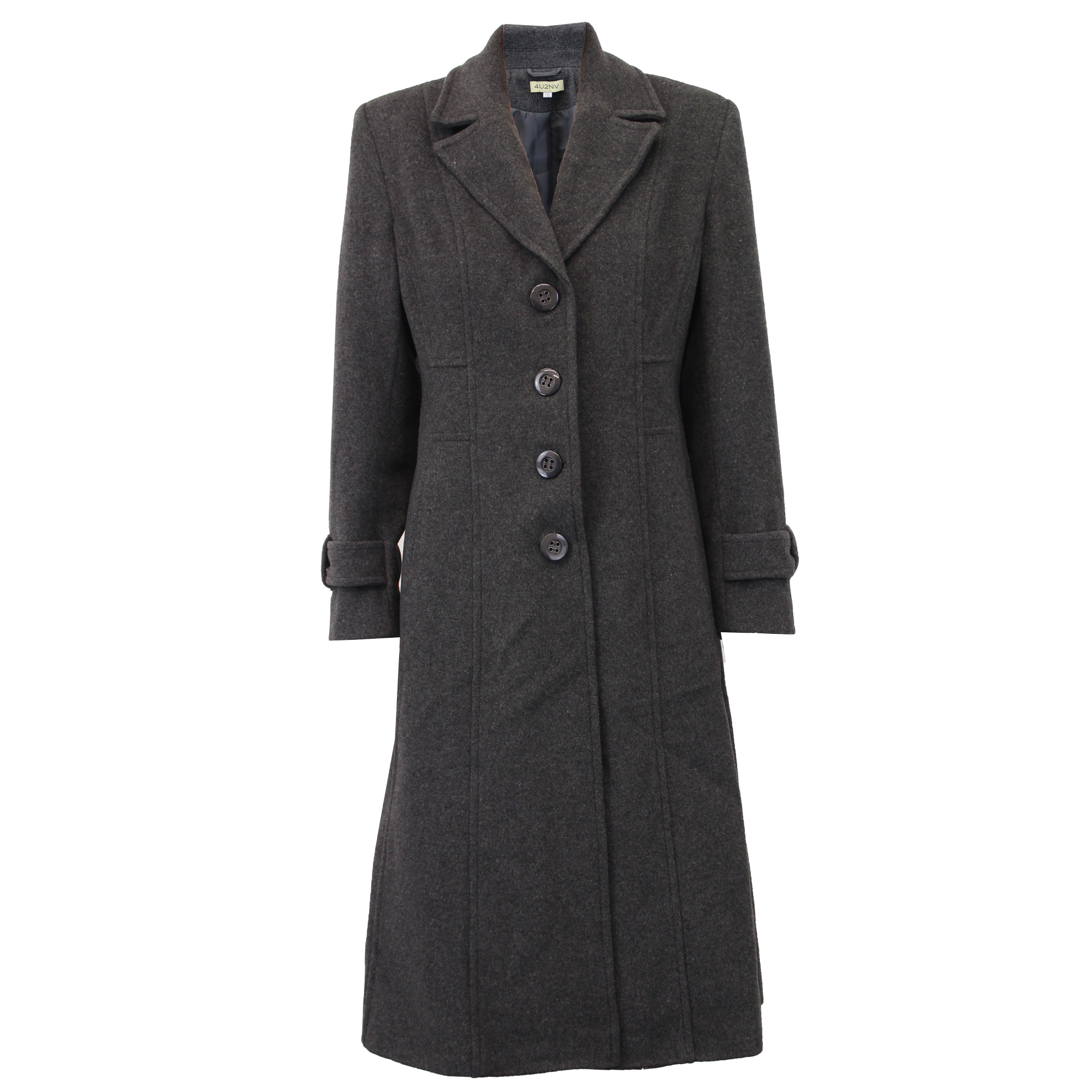 Ladies-Wool-Cashmere-Coat-Women-Jacket-Outerwear-Trench-Overcoat-Winter-Lined thumbnail 48
