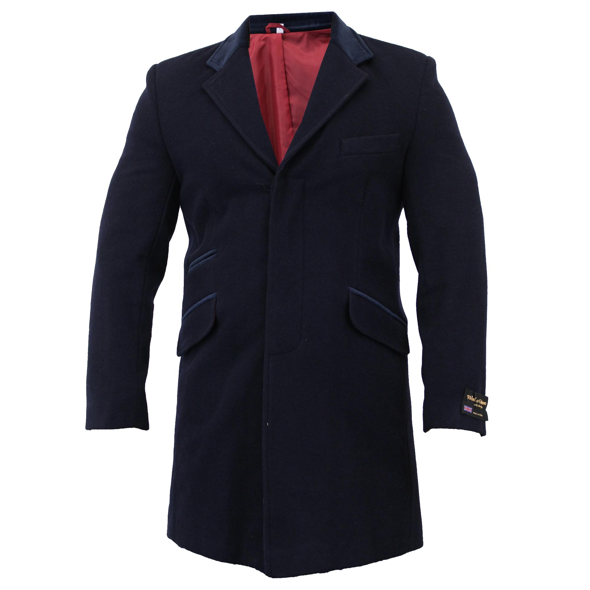 Para-Hombre-Abrigo-Chaqueta-de-lana-cashmere-Casual-abrigos-Abrigo-Trench-Forro-De-Invierno miniatura 19