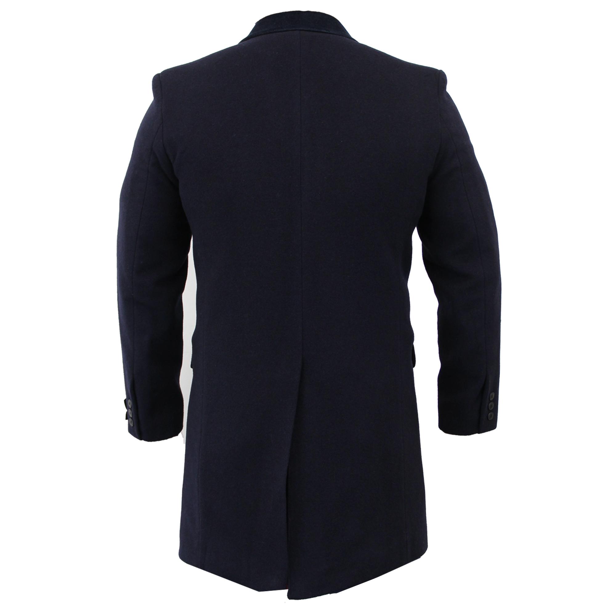 Para-Hombre-Abrigo-Chaqueta-de-lana-cashmere-Casual-abrigos-Abrigo-Trench-Forro-De-Invierno miniatura 20