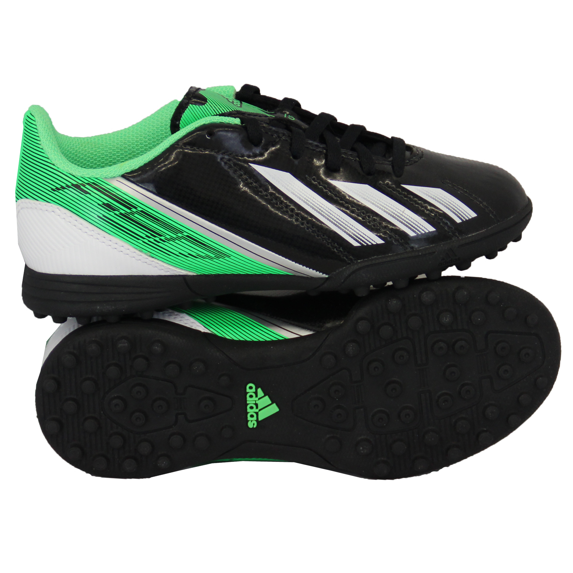Boys-ADIDAS-Trainers-Kids-Football-Soccer-Astro-Turf-Shoes-Lace-Up-Neon-Youth thumbnail 4