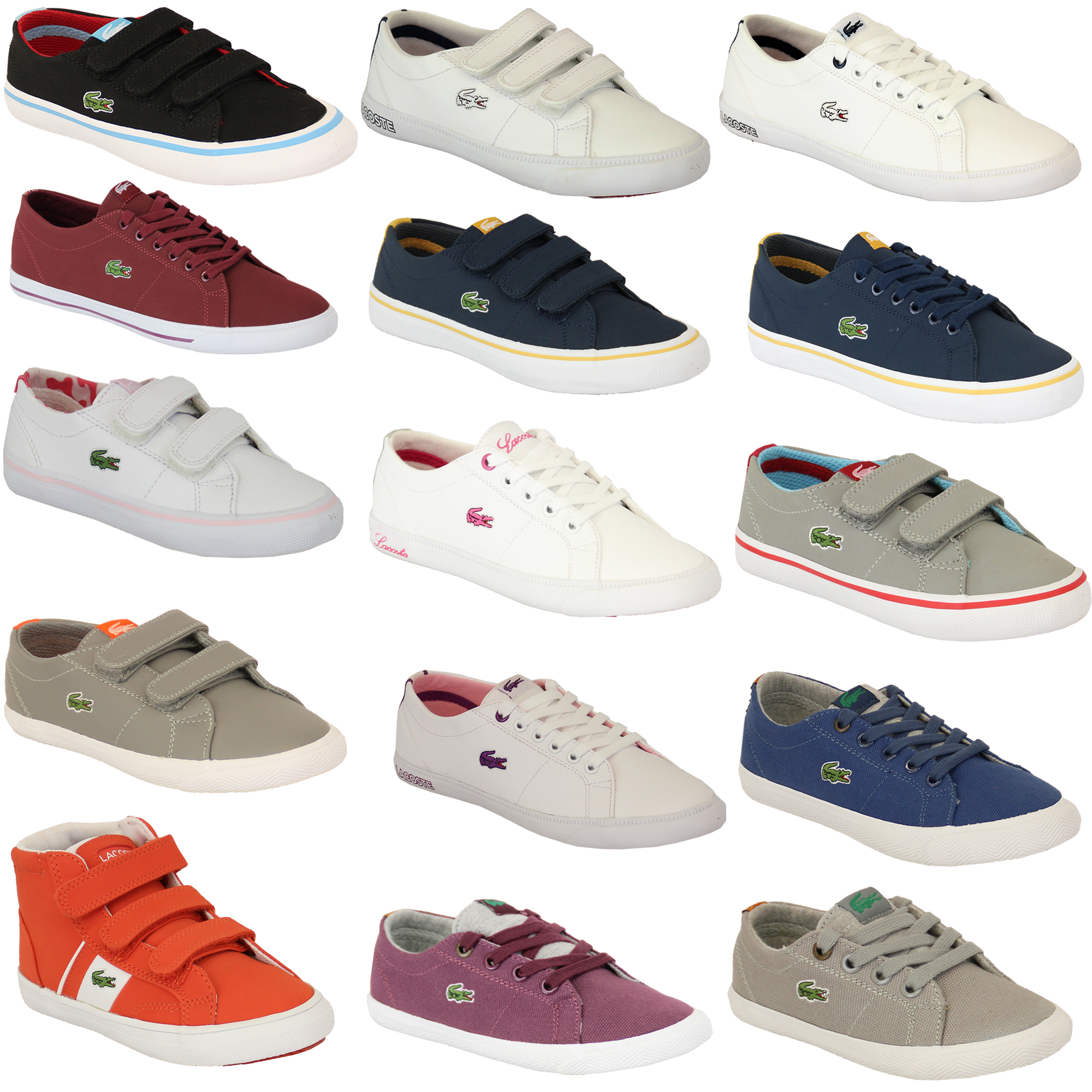 d829a8f427 Details about Boys Girls LACOSTE Trainers Kids Chunky Pumps Casual Shoes  Lace Up Youth Toddler