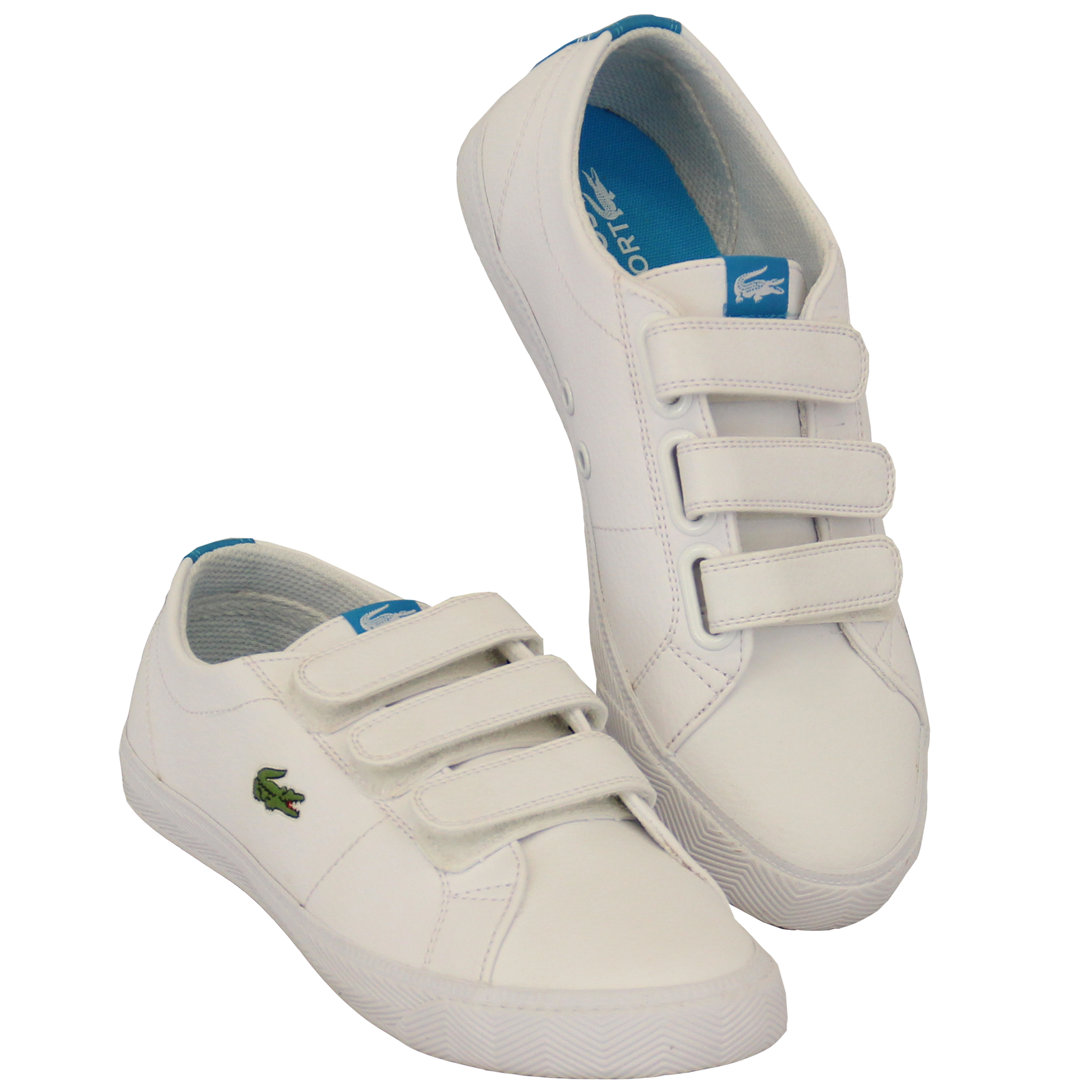b6b5d2aa38 Boys Girls LACOSTE Trainers Kids Chunky Pumps Casual Shoes Lace Up ...