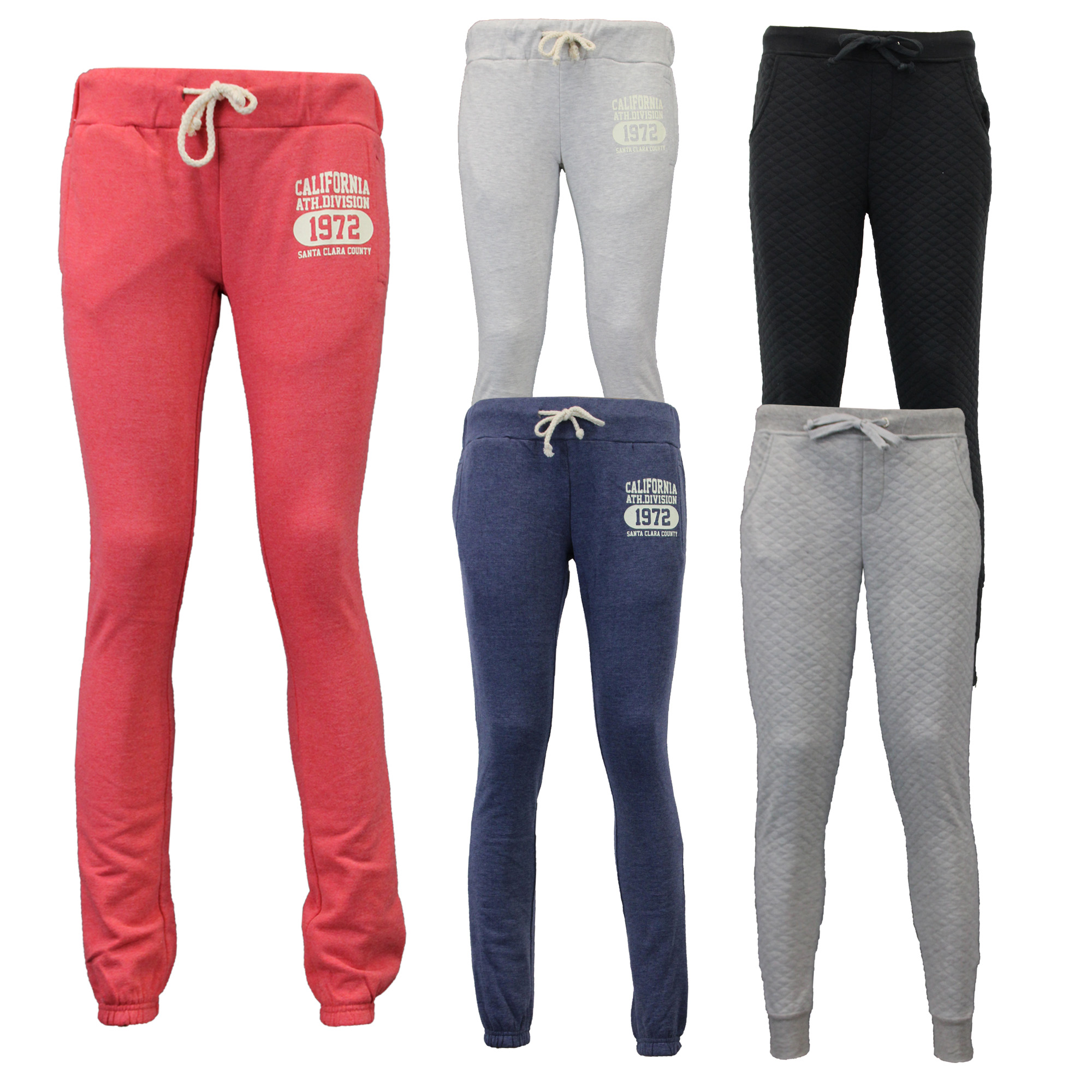 Brave Soul Womens Stylish Quilted Cuffed Jogging Bottoms//Pants