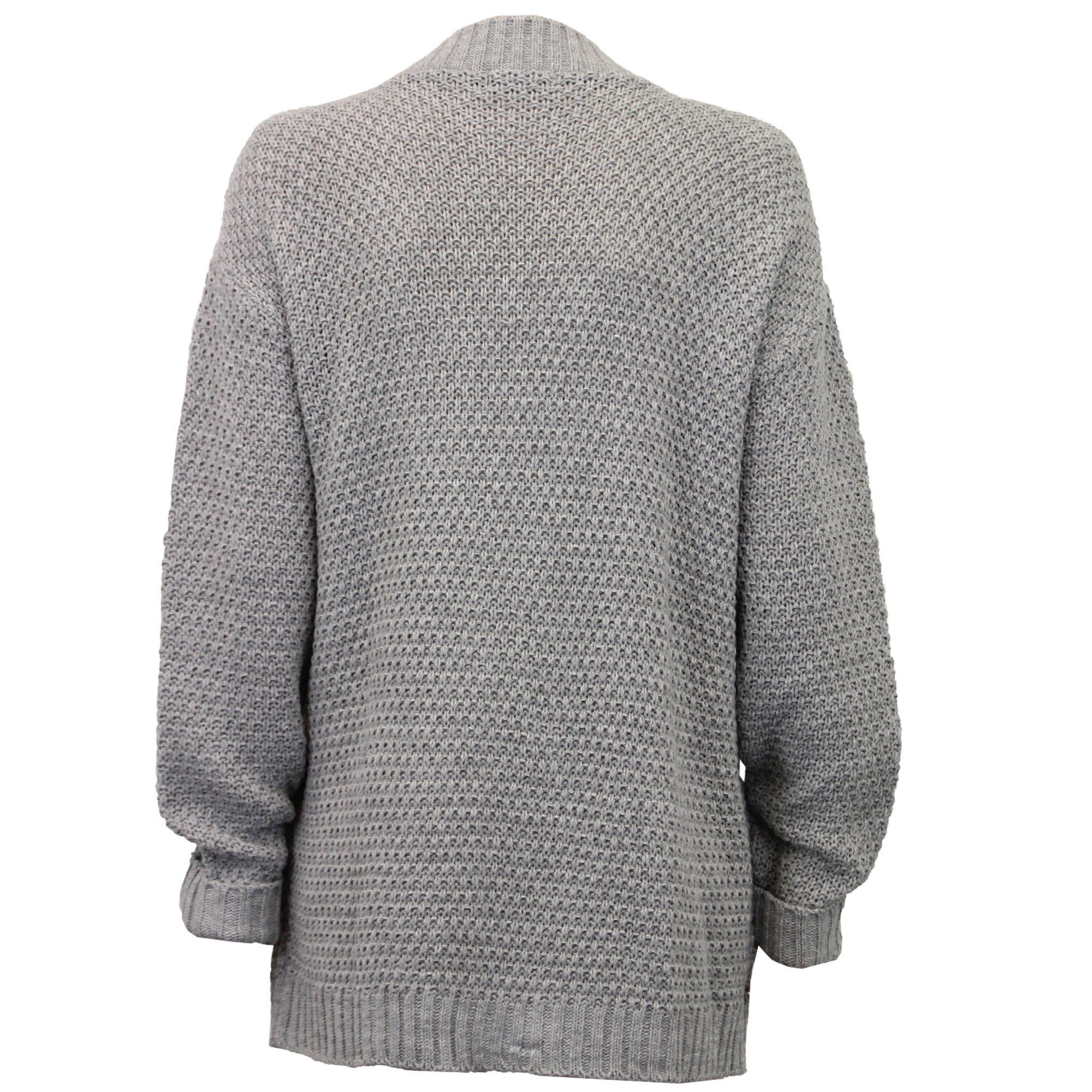 Ladies-Cardigans-Womens-Knitted-Jumper-Cable-Jacquard-Boyfriend-Chunky-Winter