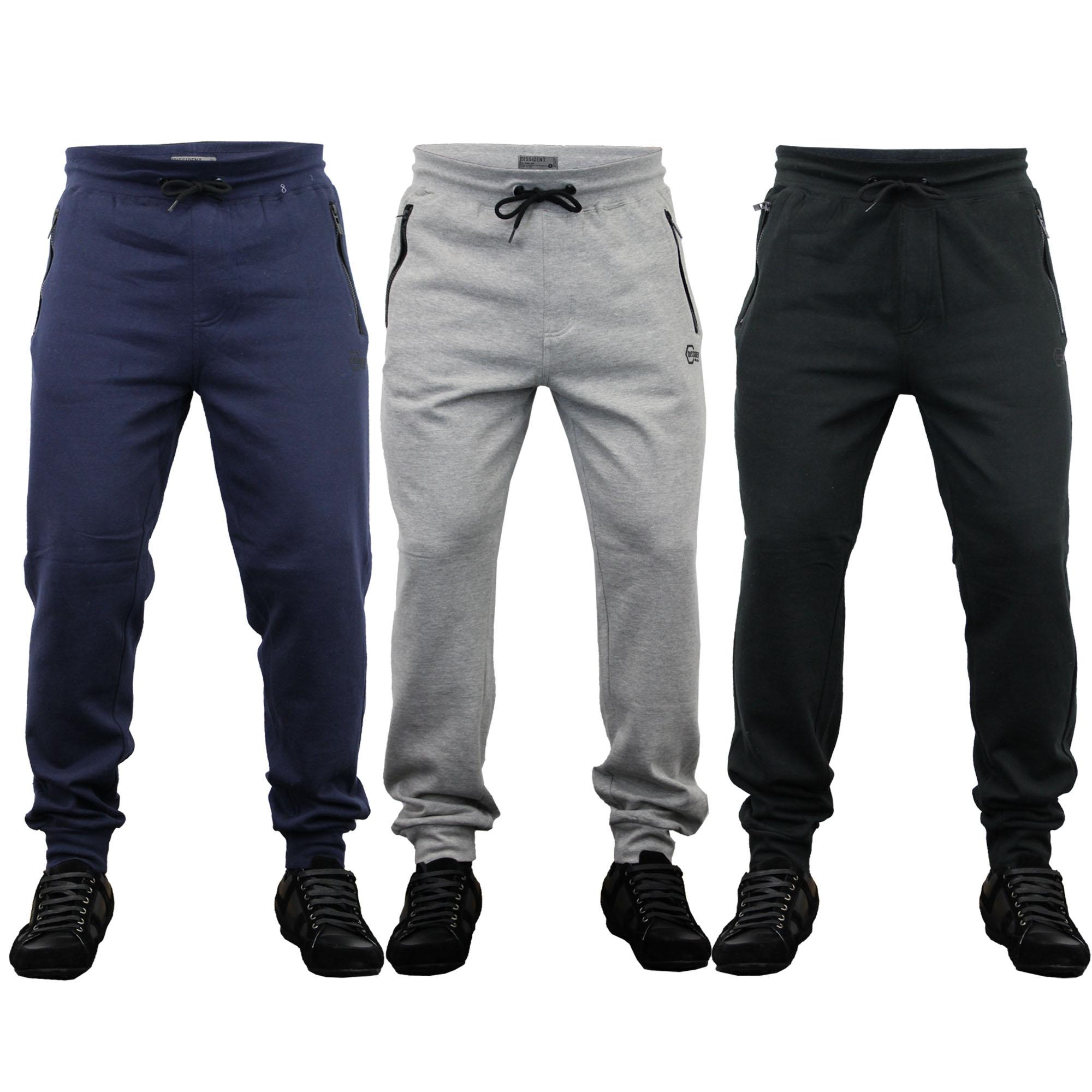 hommes bas dissident pantalon de jogging pantalon lastique cheville ebay. Black Bedroom Furniture Sets. Home Design Ideas