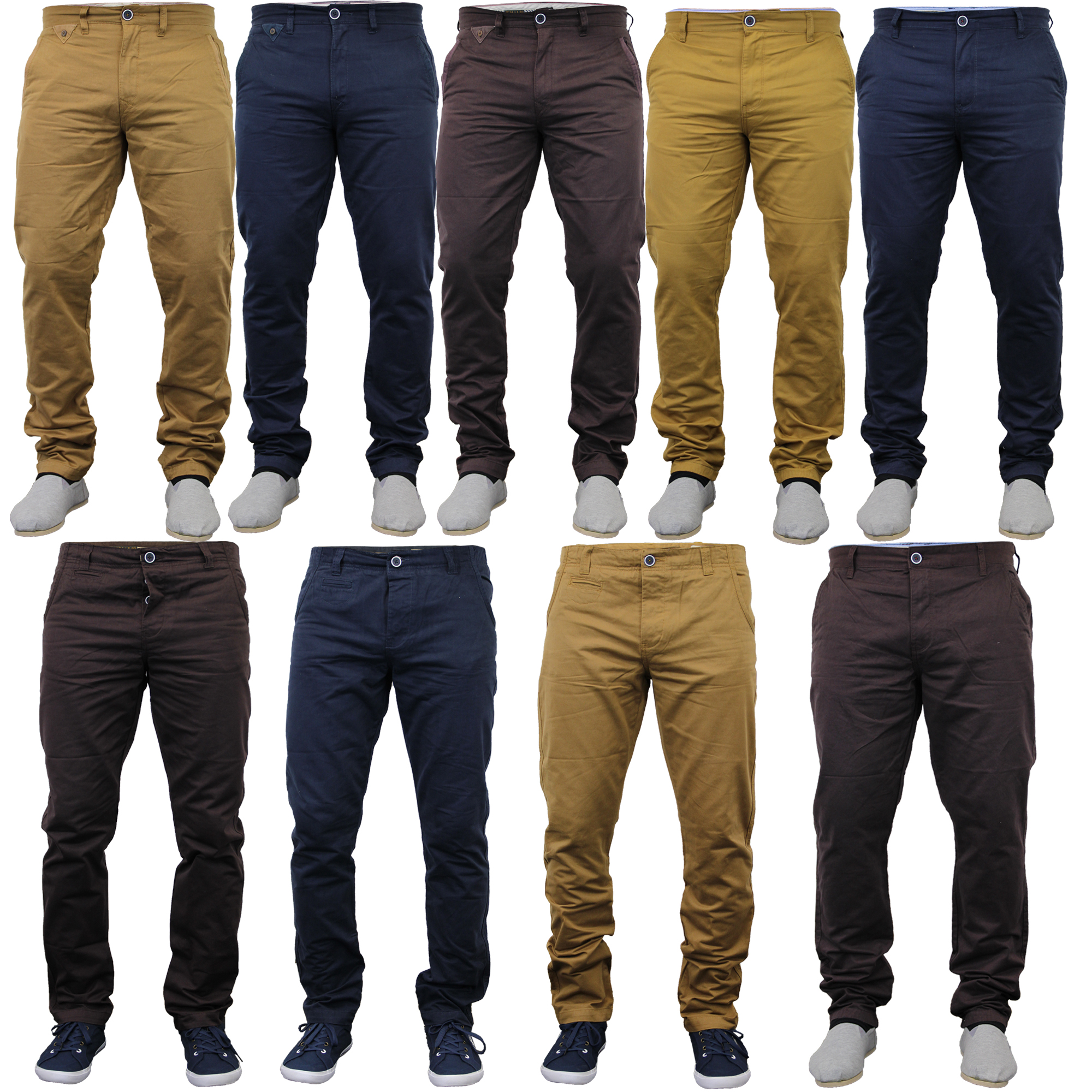 Mens Chino Jeans Pants Straight Leg Bonds Stallion Trousers Bottoms ... 673c725a4