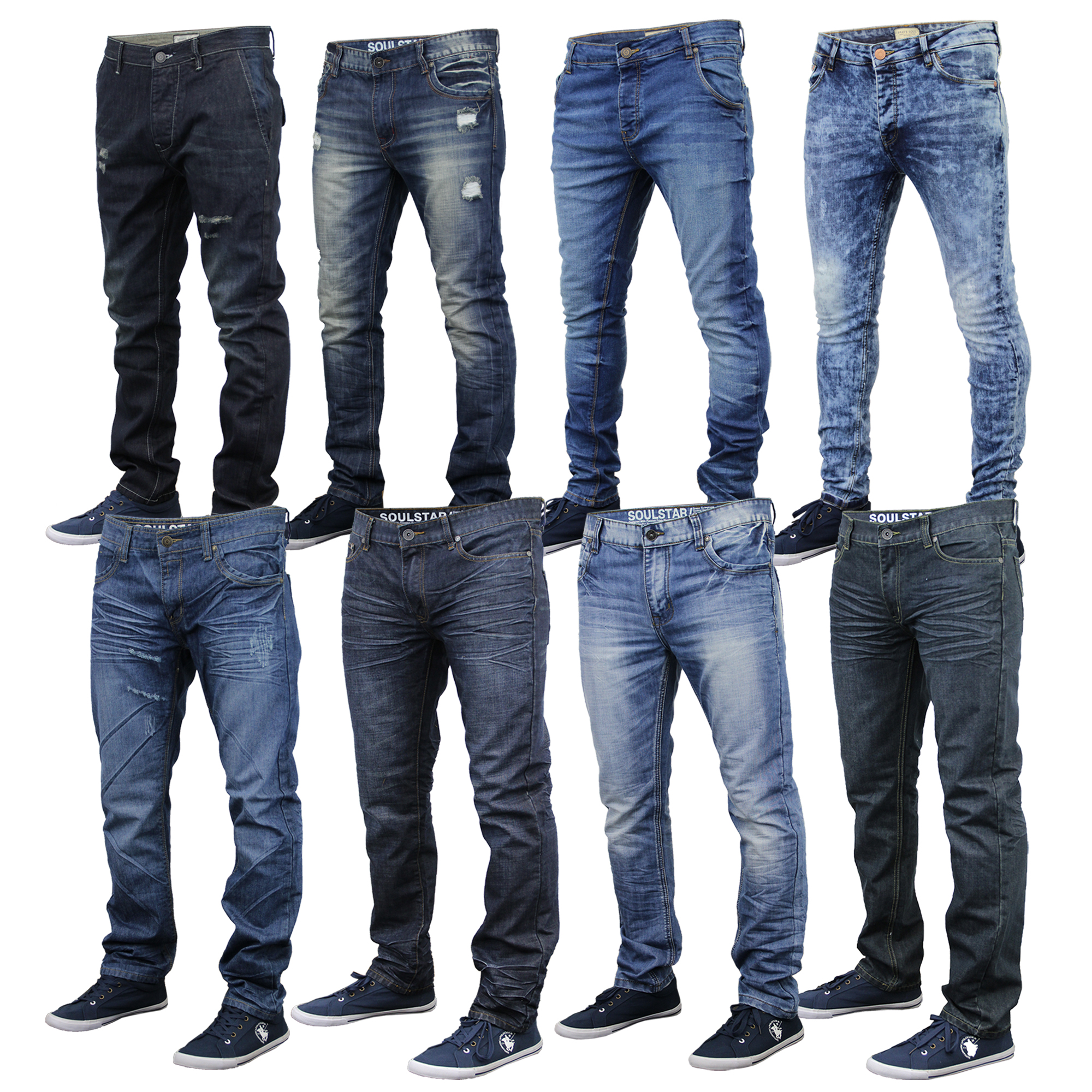 mens denim slim regular fit jeans by brave soul ebay. Black Bedroom Furniture Sets. Home Design Ideas