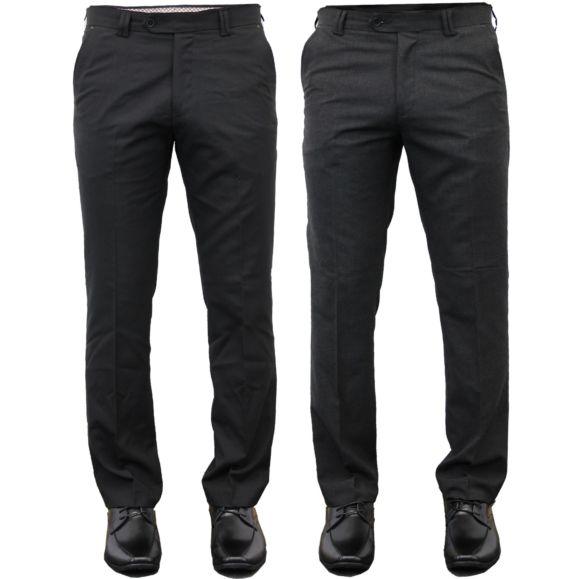 Mens-Trouser-Soul-London-Formal-Dress-Pant-Office-