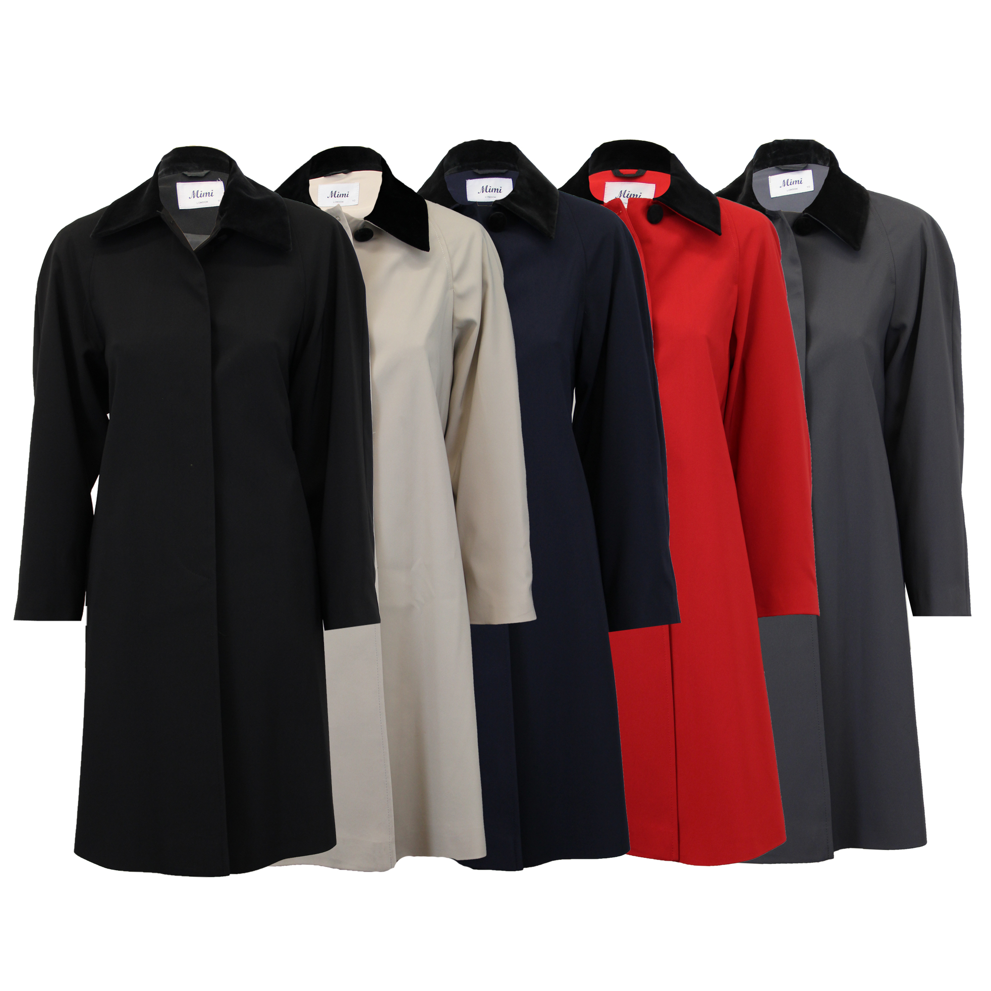 Ladies-Coat-Womens-Jacket-Trench-Overcoat-Velvet-Collar-Long-Casual-Lined-Summer thumbnail 4