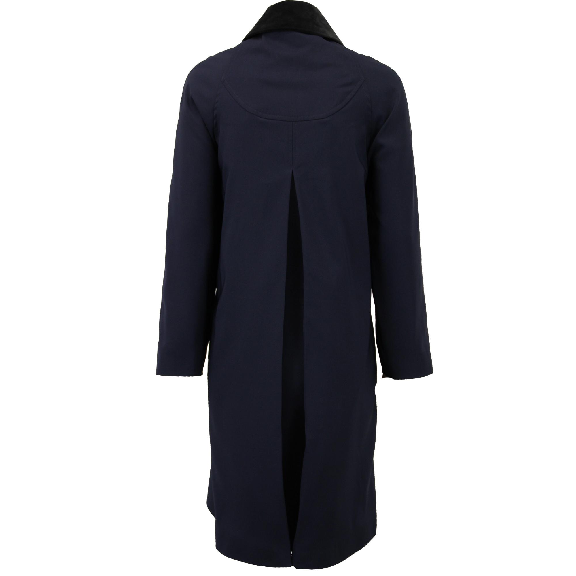 Ladies-Coat-Womens-Jacket-Trench-Overcoat-Velvet-Collar-Long-Casual-Lined-Summer thumbnail 6
