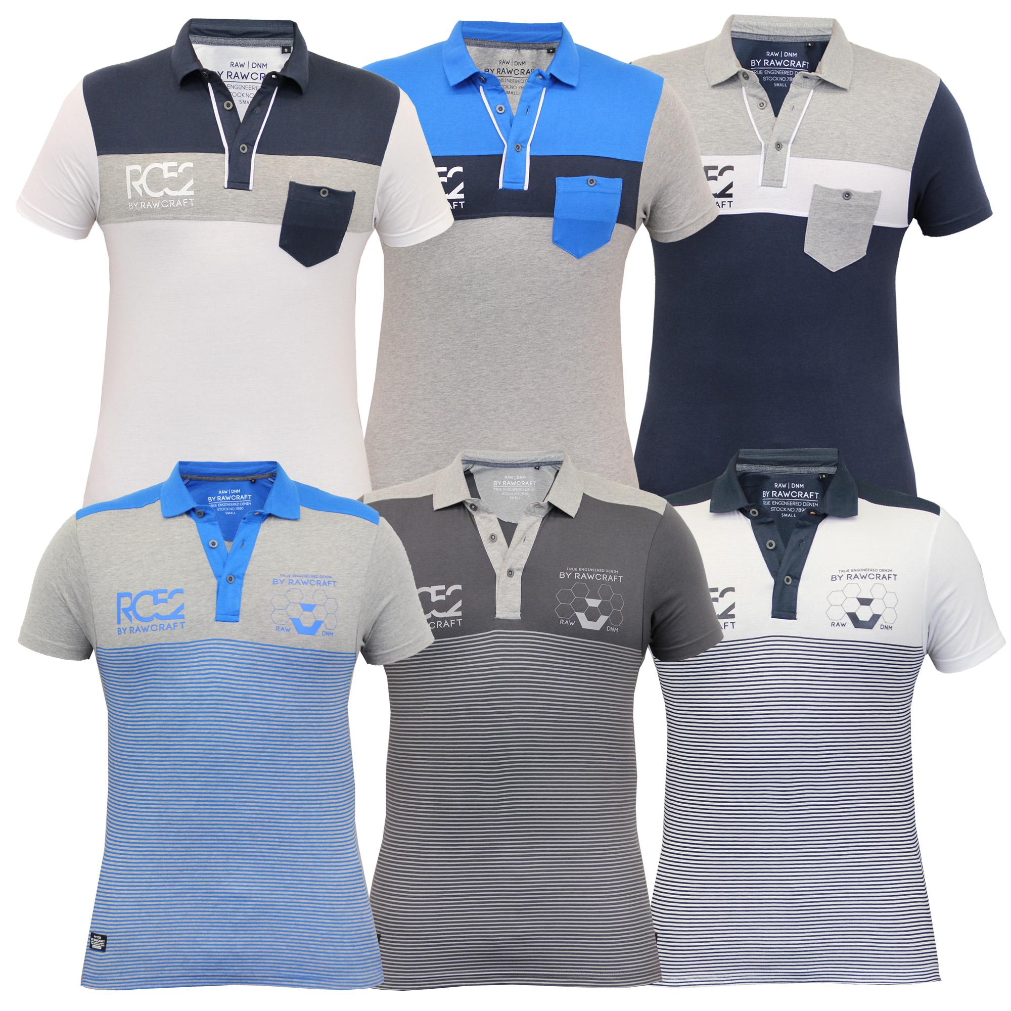 c1572ff216a Boys Polo T Shirt Rawcraft Kids Pique Striped Top Jersey Short ...