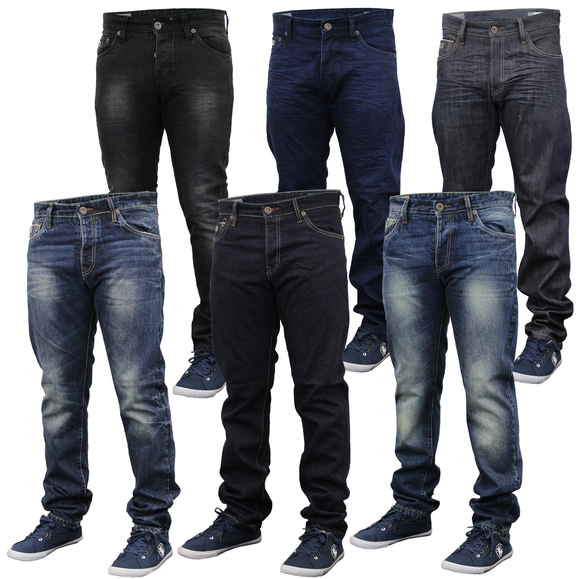 Mens Denim Jeans Emporio Seven Pants Faded Slim Fit Trousers Designer Bottoms Ebay