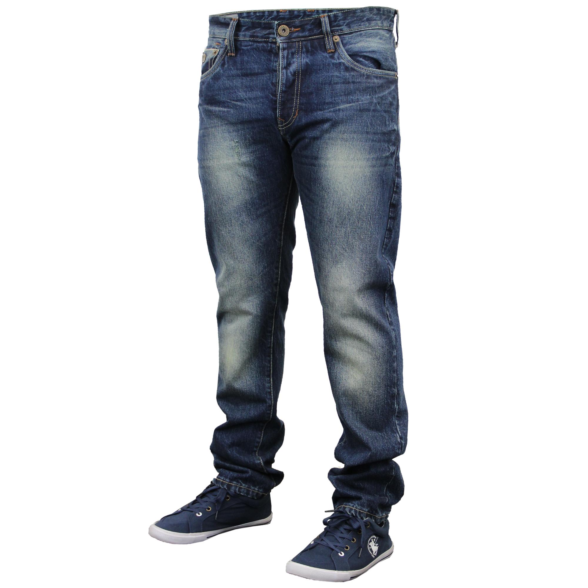 mens Emporio Seven denim jeans pants faded slim fit trousers designer bottoms