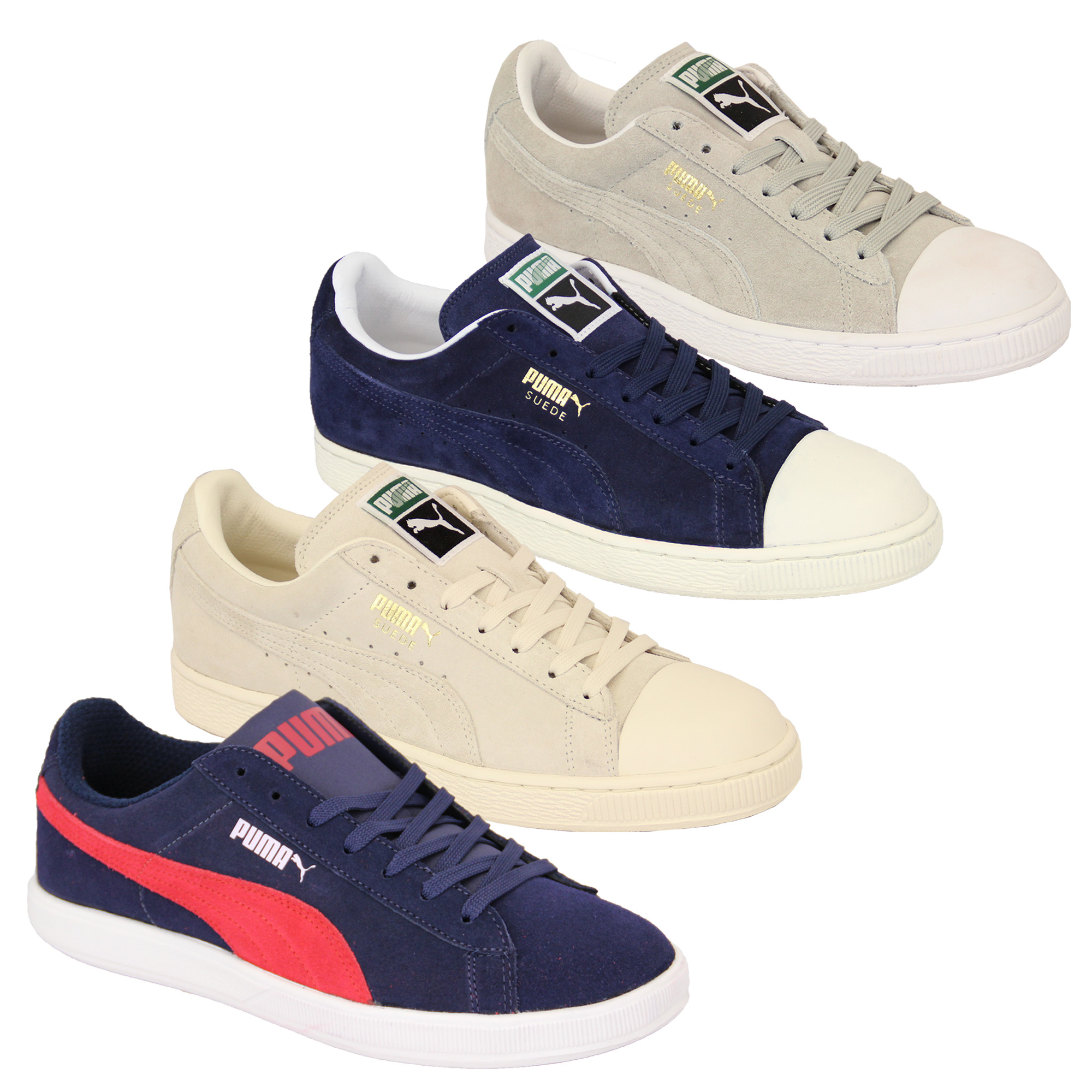 Mens PUMA Trainers Womens Archive Lite Low Suede Leather Shoes ... 34a108472