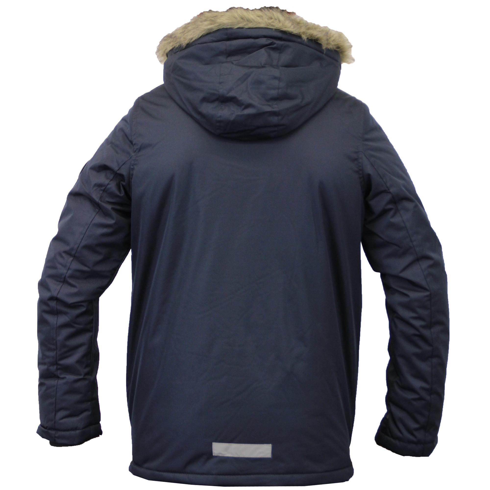 9646112f0c98 Boys Jacket Brave Soul Parka Coat Kids Padded Hooded Faux Fur Lined ...