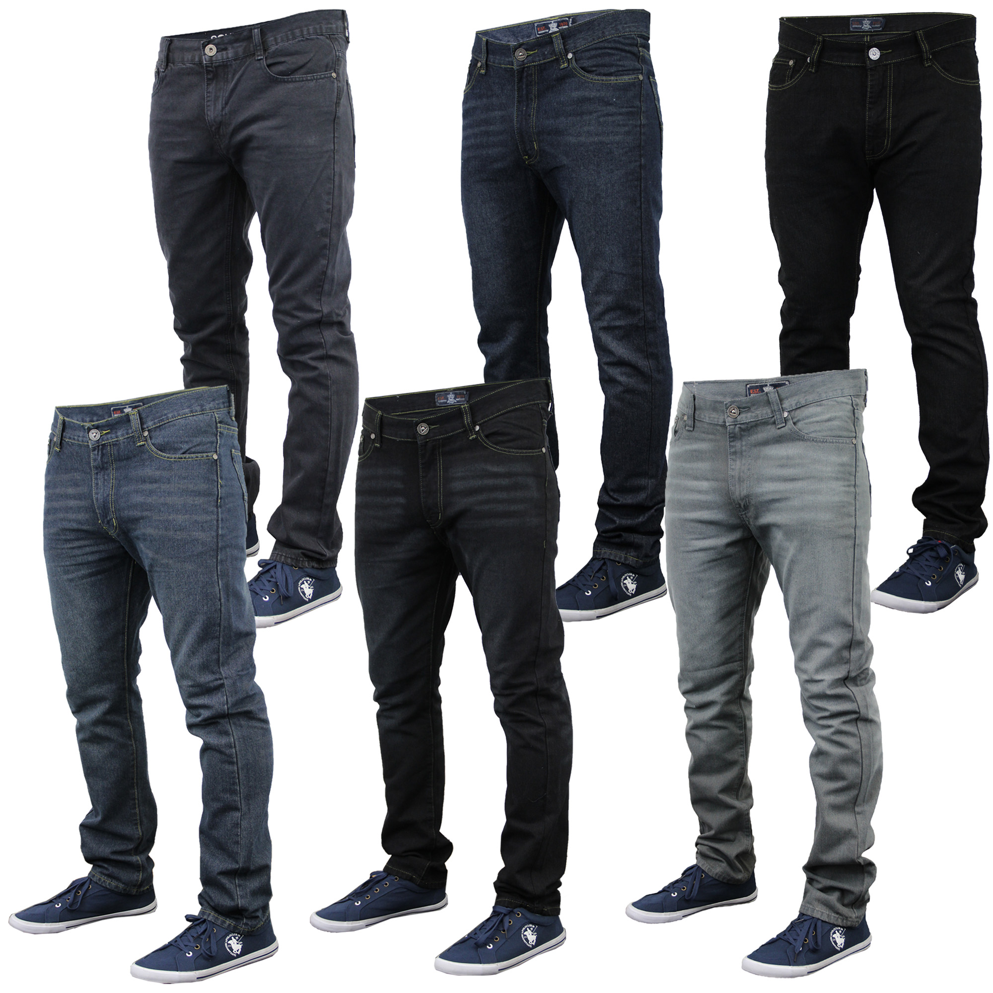 Mens Denim Jeans Soul Star Pants Slim Fit Trousers Designer Bottoms ... cba2d6a4e7