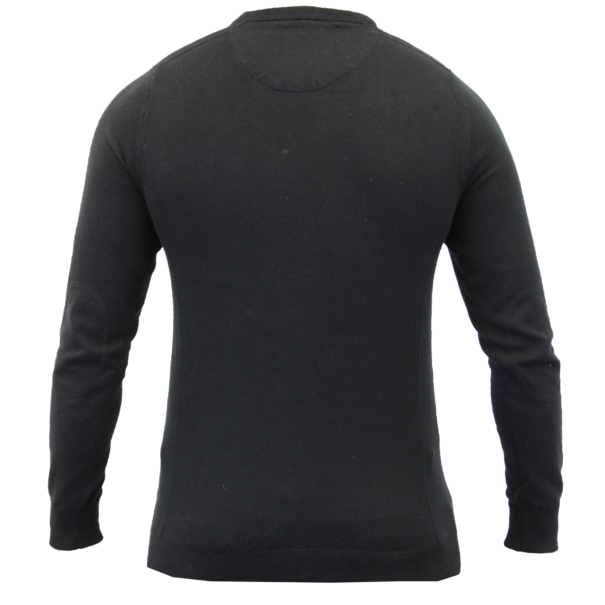 Mens-Jumper-Threadbare-Knitted-Top-Sweater-Pullover-Patches-Crew-Funnel-Neck-New thumbnail 3