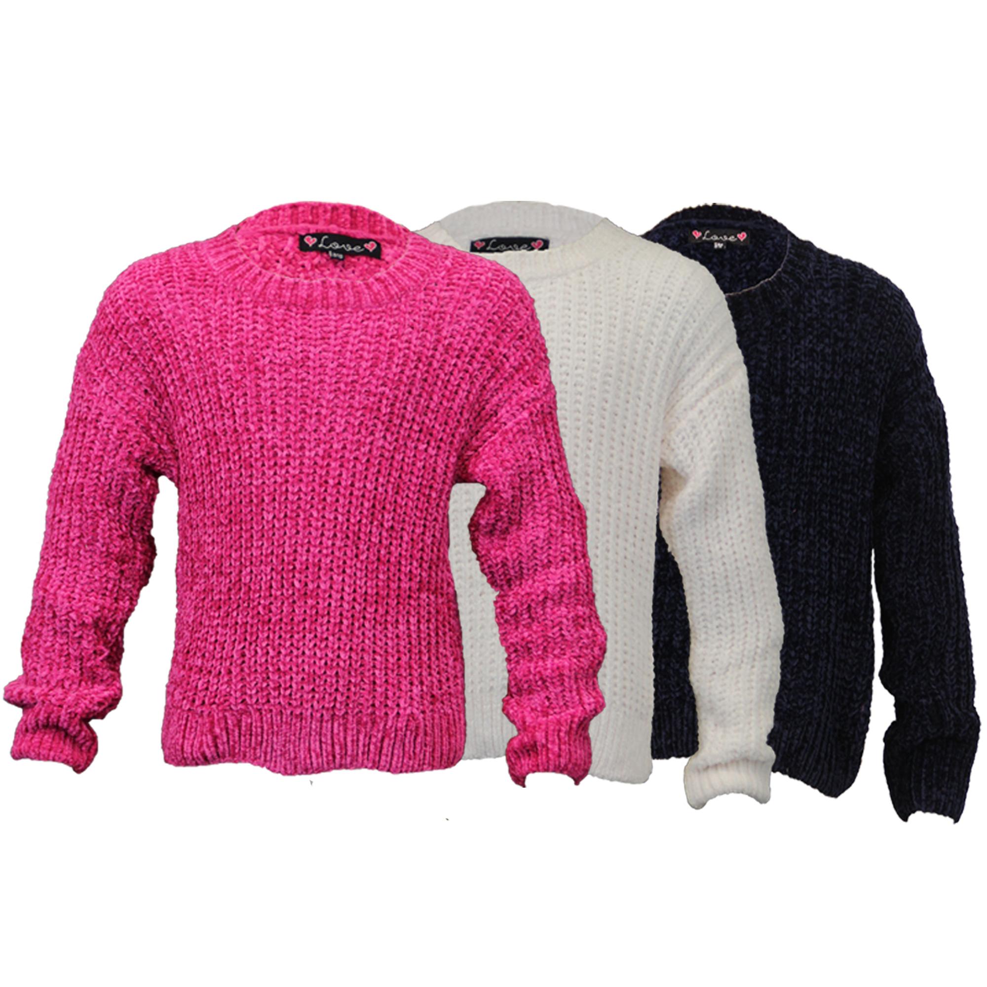 78df50583632d Filles Câble Pull Tricoté Enfants Pull Love Knitwear Ras de Cou ...