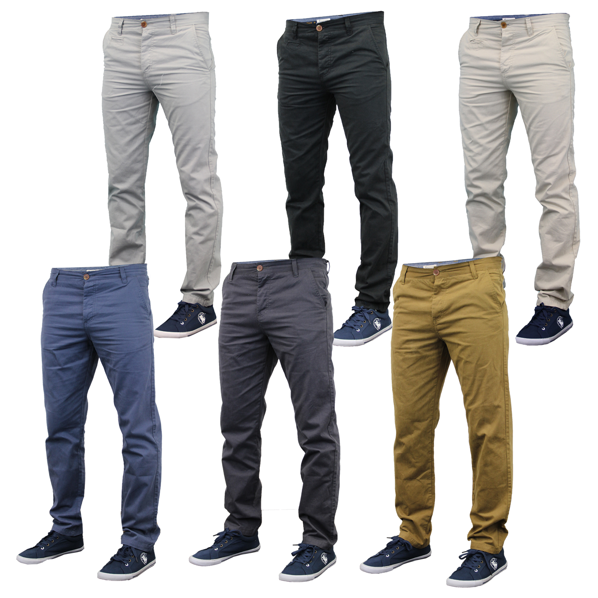 amazon complimentary shipping best place Details about Mens Slim Fit Chinos Jeans By Stallion Comfortable  Lightweight Summer New