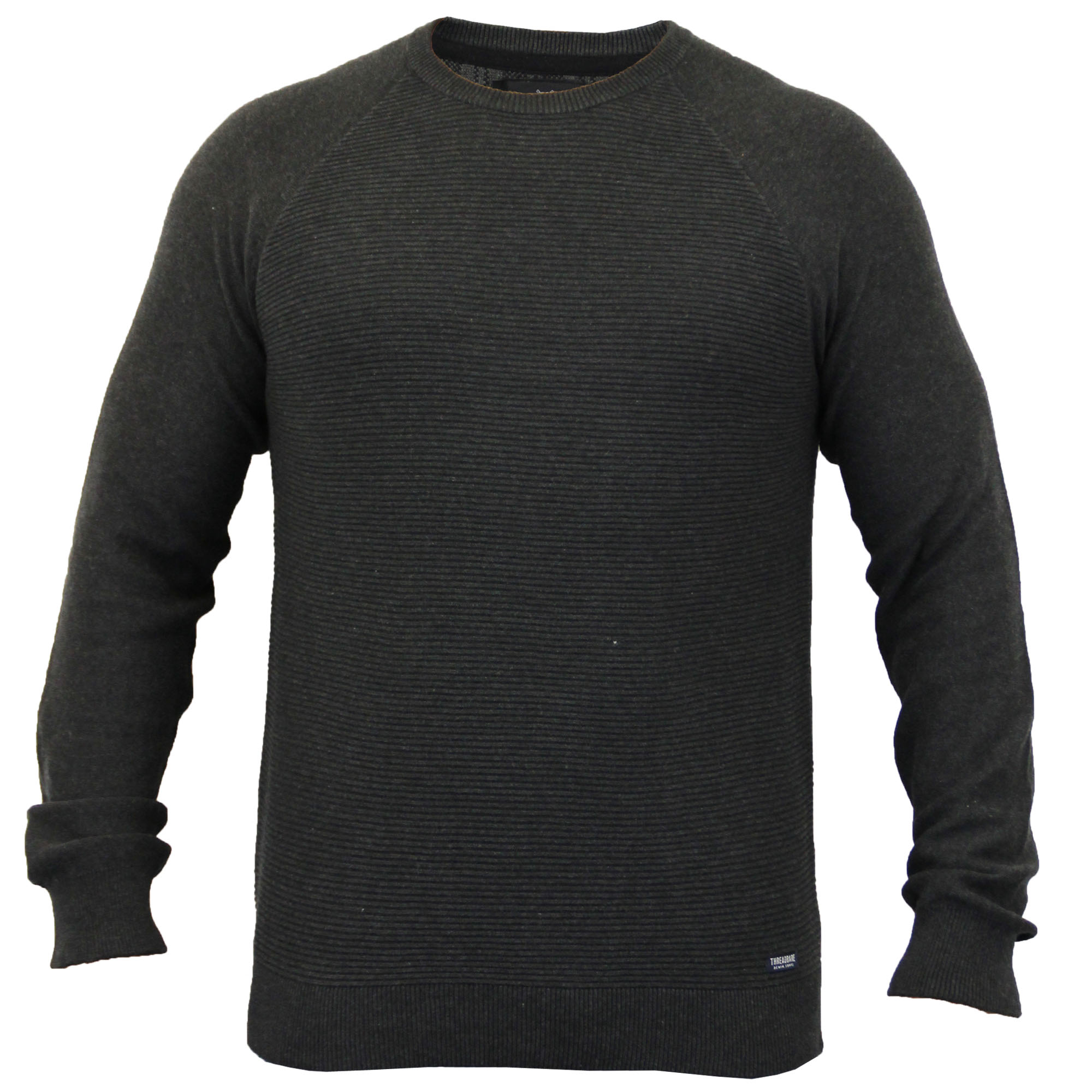 Mens-Jumper-Threadbare-Knitted-Chunky-Sweater-Top-Pullover-Crew-Neck-Winter-New thumbnail 6