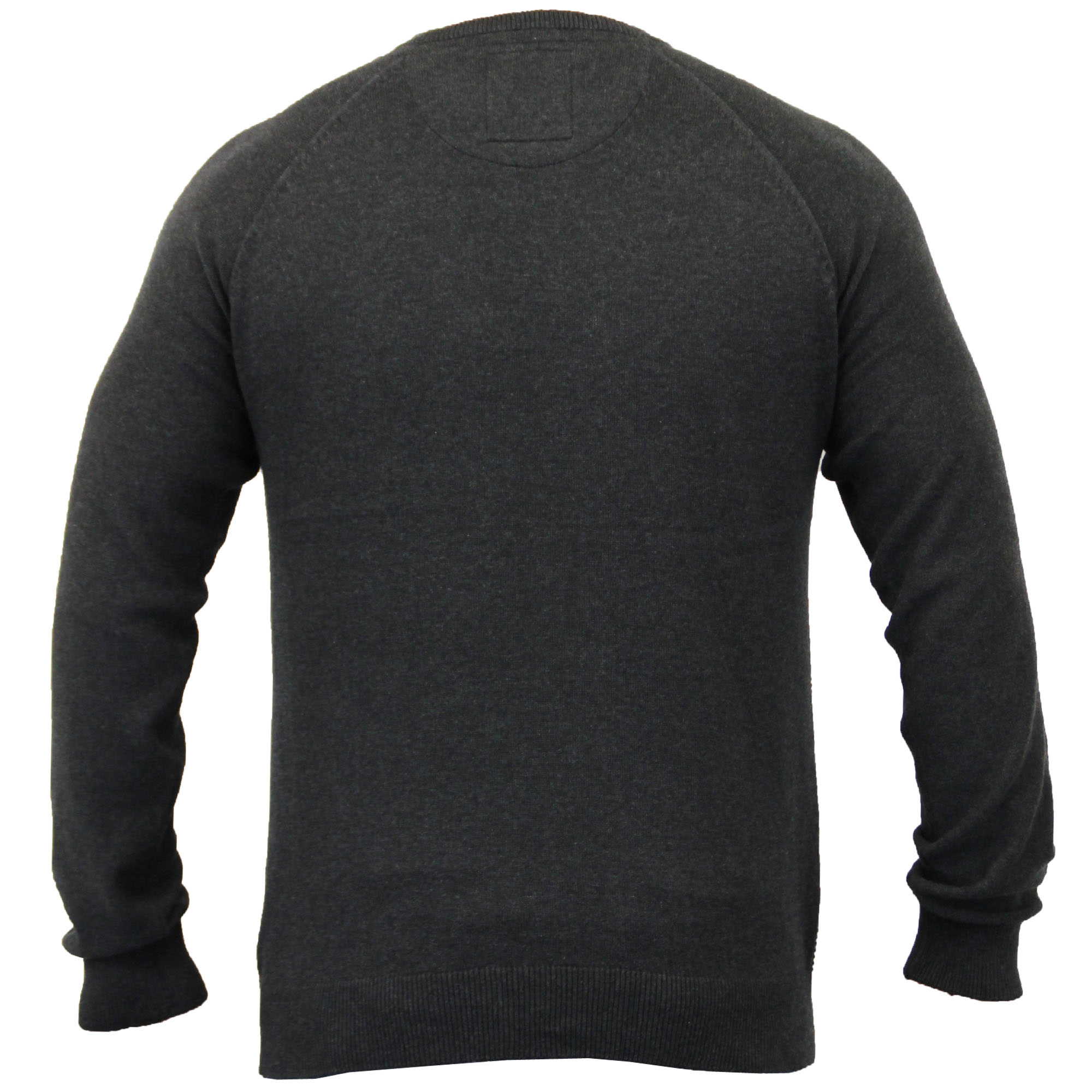 Mens-Jumper-Threadbare-Knitted-Chunky-Sweater-Top-Pullover-Crew-Neck-Winter-New thumbnail 7