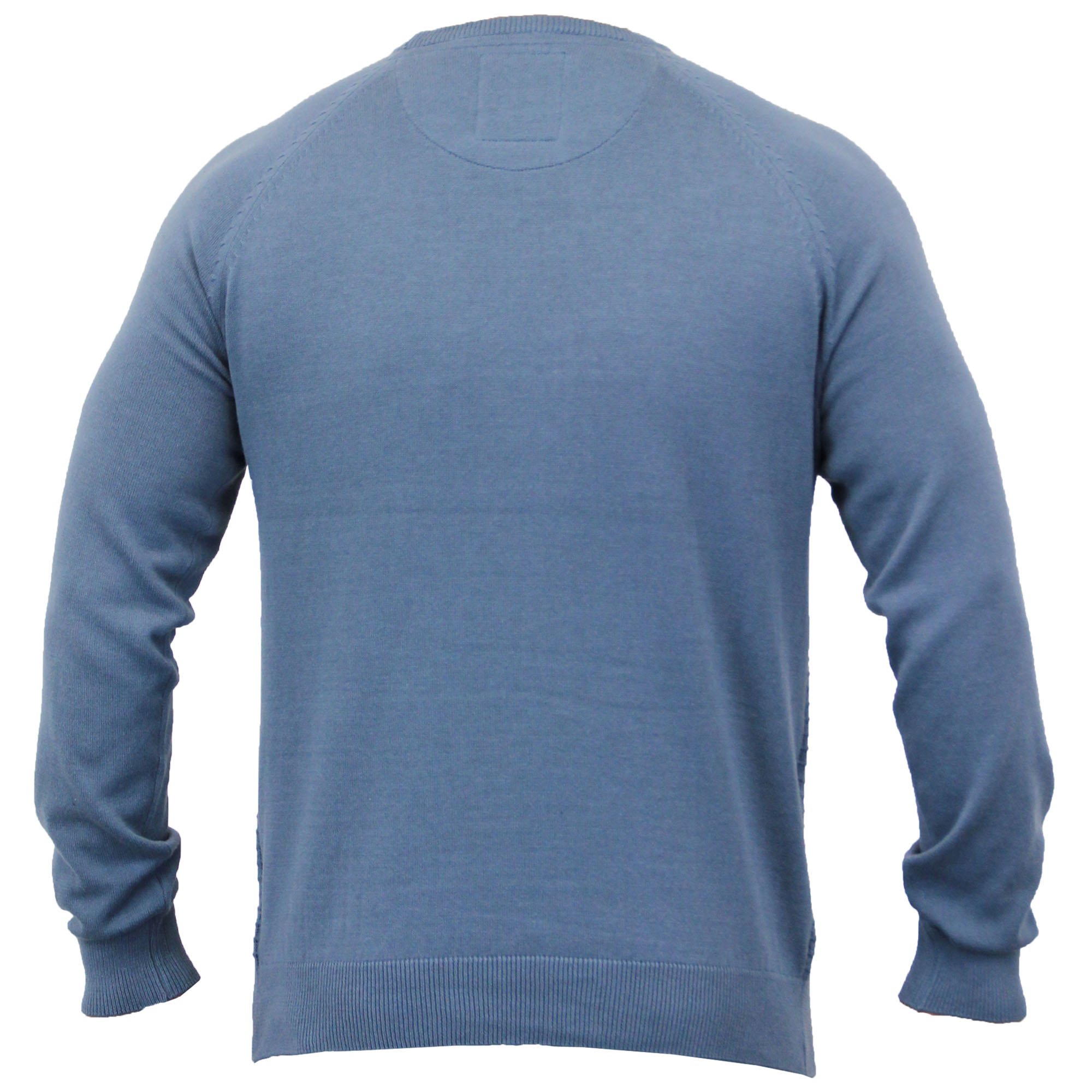 Mens-Jumper-Threadbare-Knitted-Chunky-Sweater-Top-Pullover-Crew-Neck-Winter-New thumbnail 4