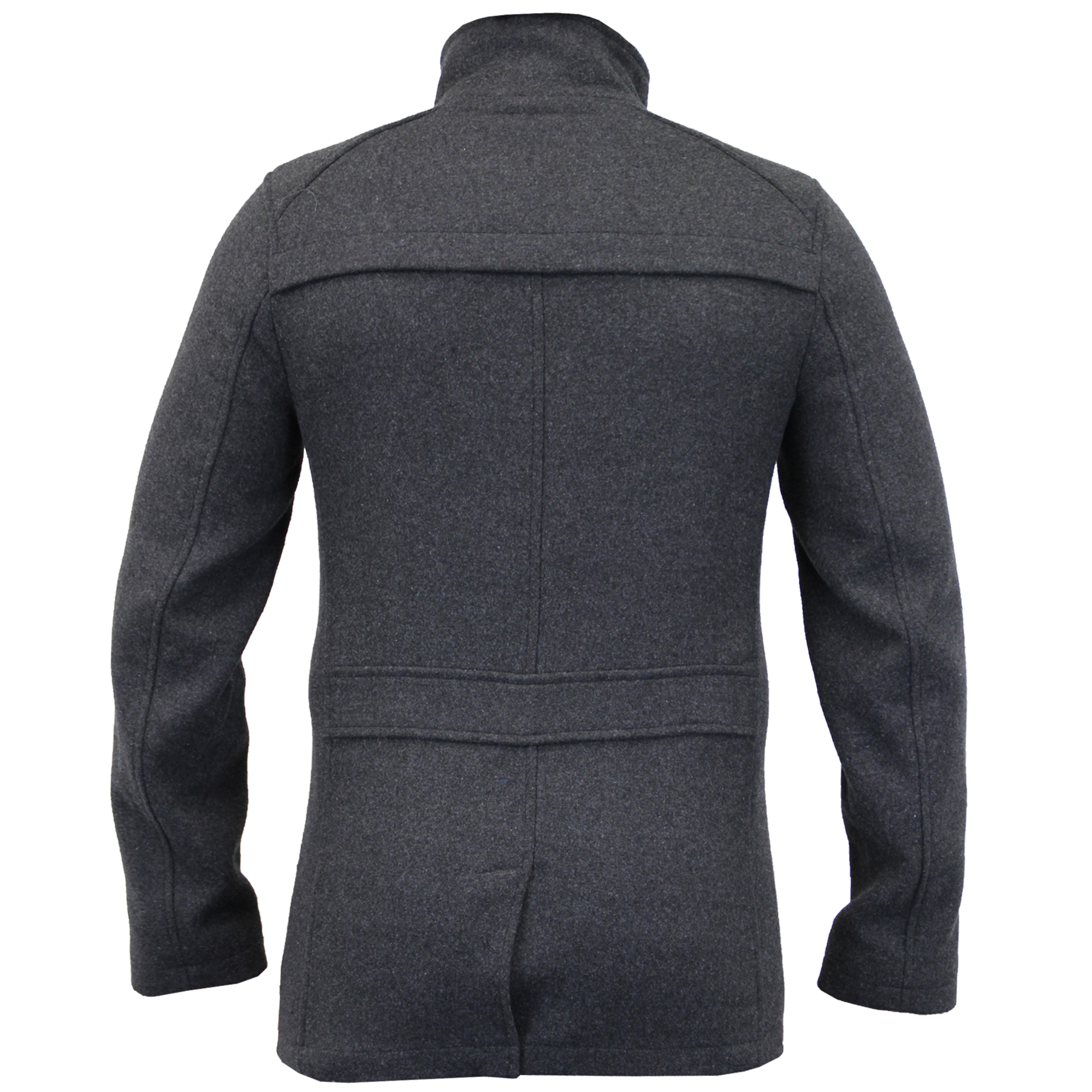 Mens-Wool-Mix-Jacket-Threadbare-Coat-Double-Breasted-Duffle-Lined-Winter-New thumbnail 3
