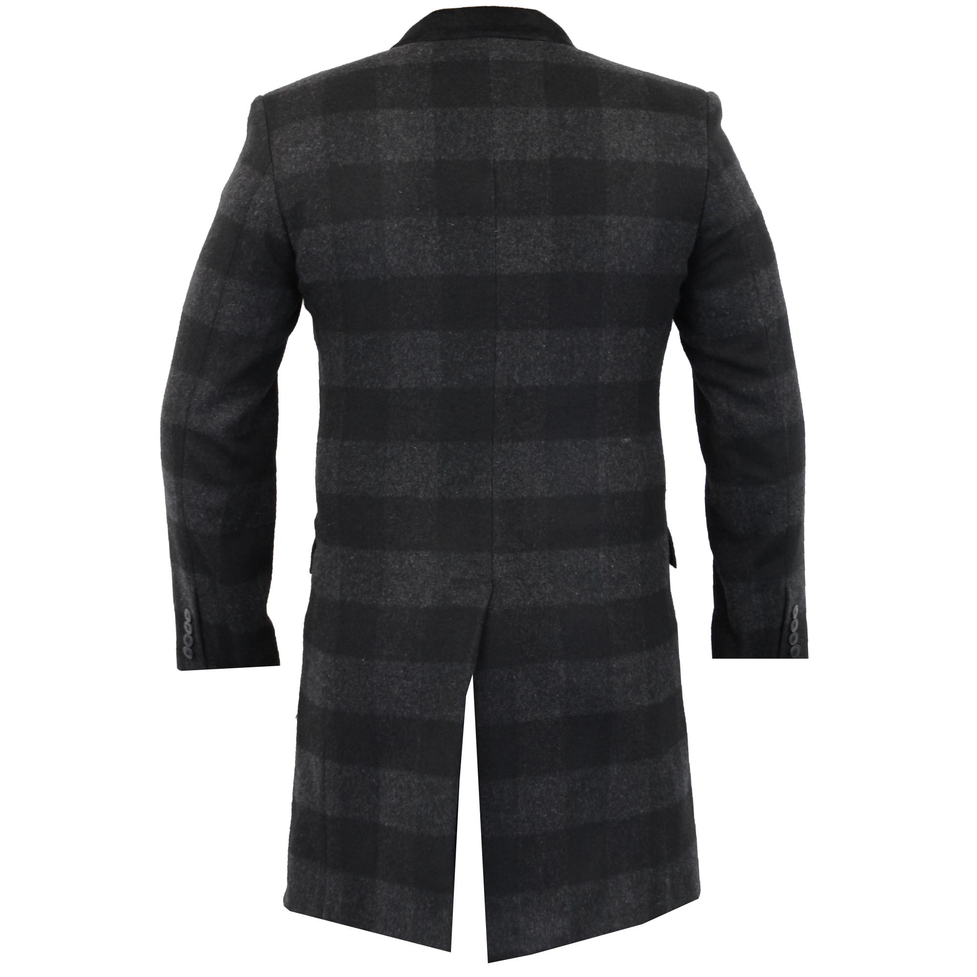 Para-Hombre-Abrigo-Chaqueta-de-lana-cashmere-Casual-abrigos-Abrigo-Trench-Forro-De-Invierno miniatura 6