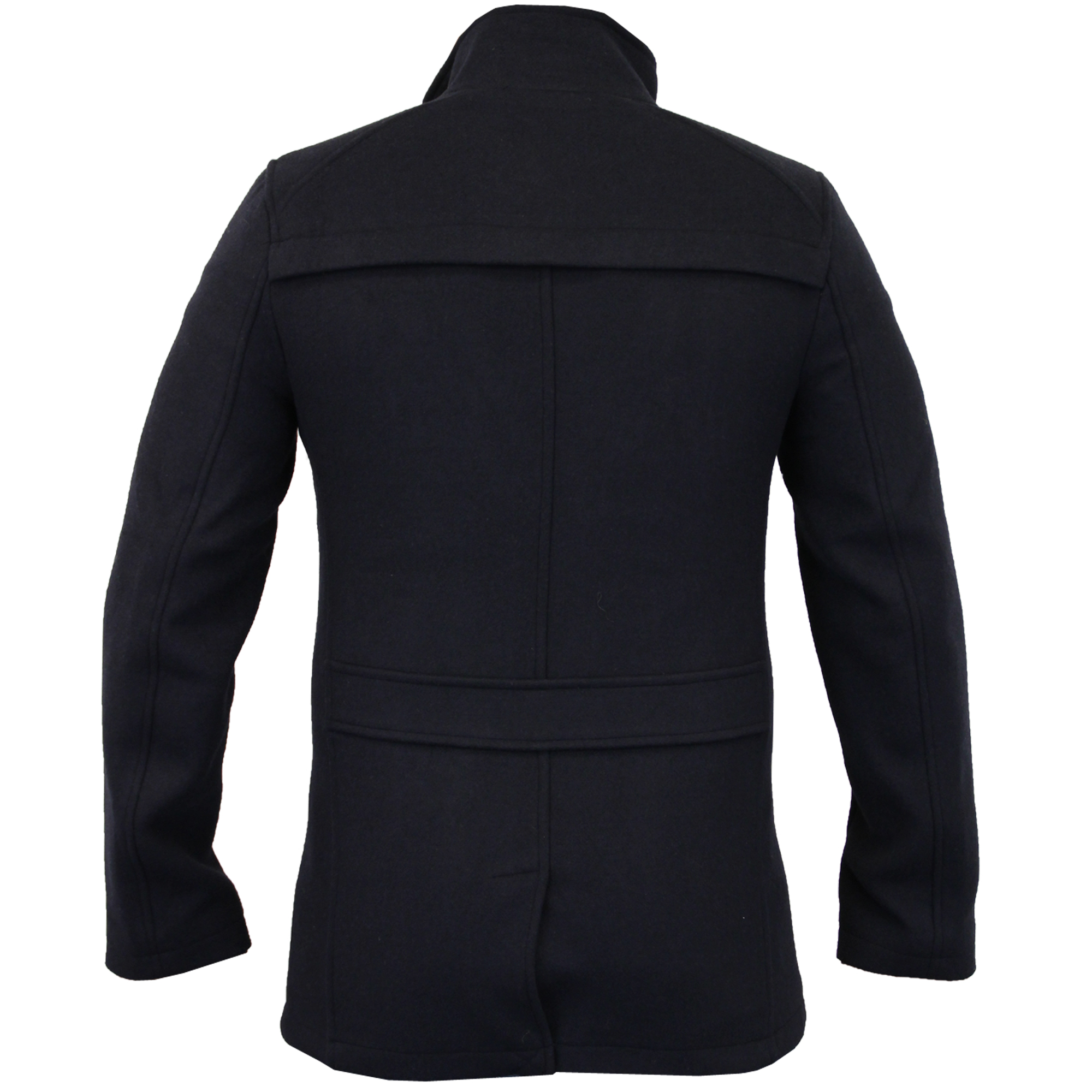 Mens-Wool-Mix-Jacket-Threadbare-Coat-Double-Breasted-Duffle-Lined-Winter-New thumbnail 9
