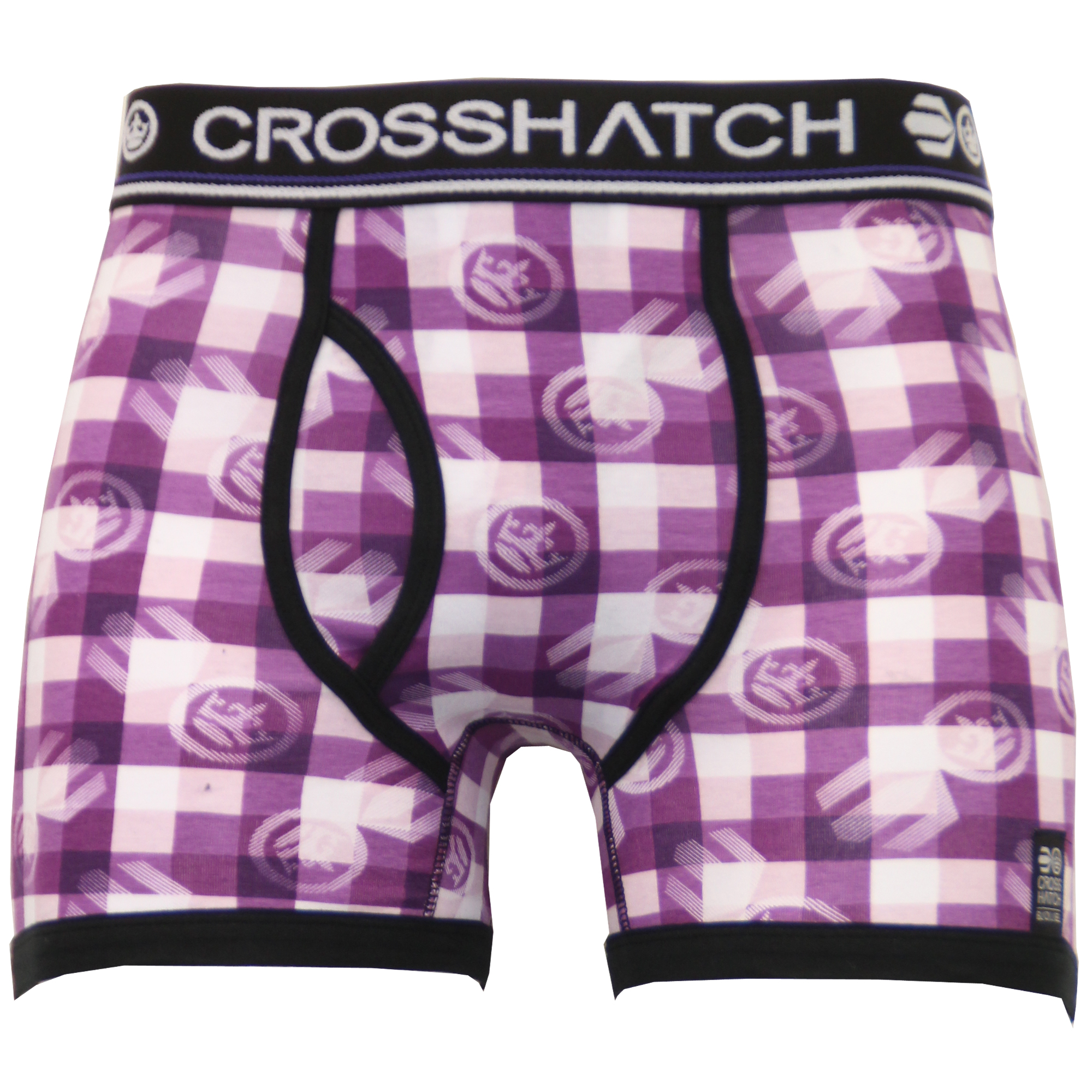 thumbnail 14 - Mens Boxer Crosshatch TWO 2 Pack Underwear Trunks Shorts Plain Check Casual New