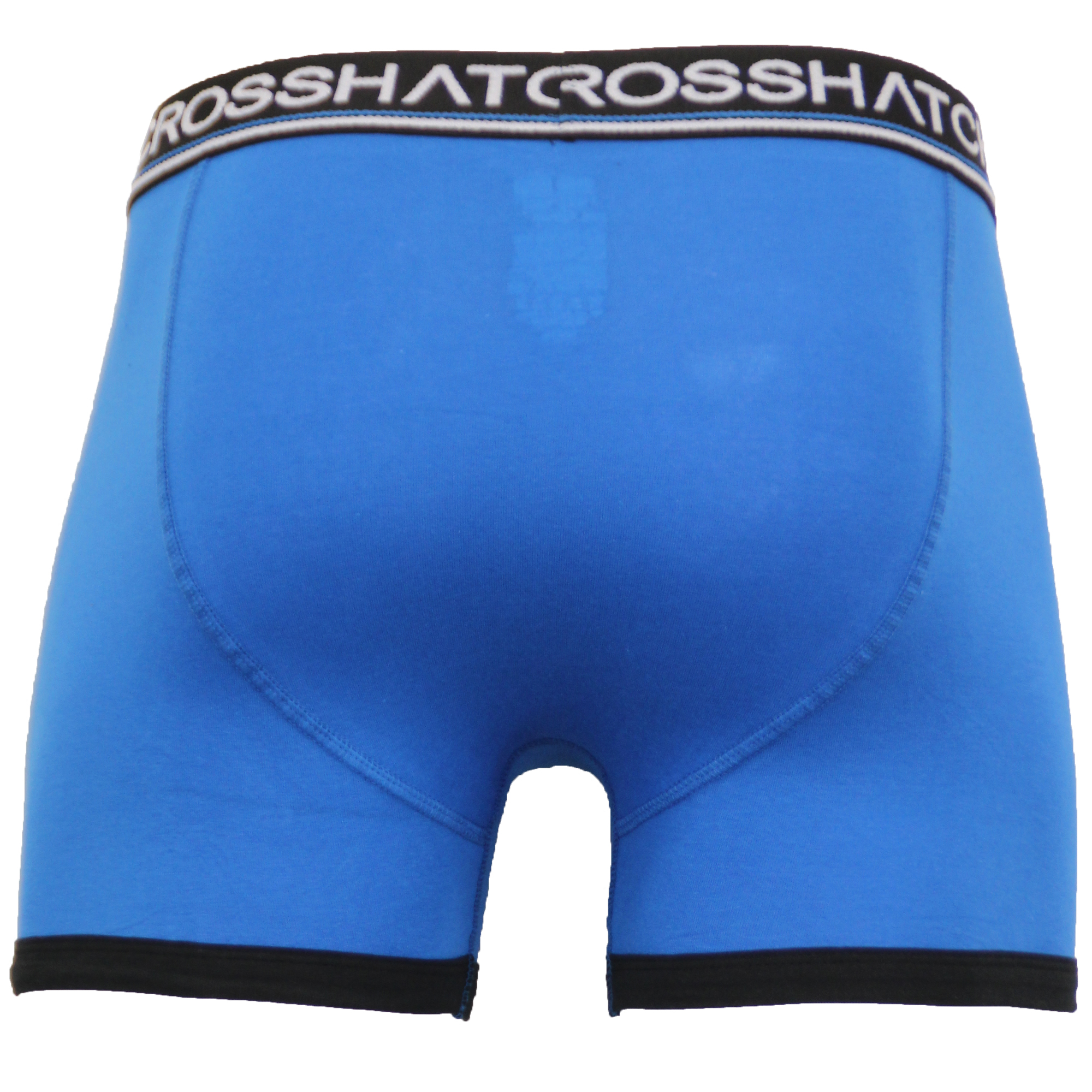 thumbnail 3 - Mens Boxer Crosshatch TWO 2 Pack Underwear Trunks Shorts Plain Check Casual New