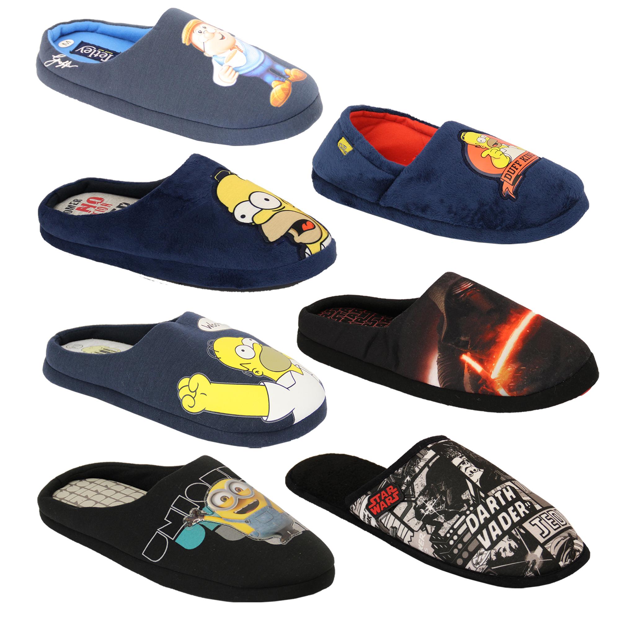 83c0c8de7ce00 mens slippers homer simpsons minions Star Wars tetley mule sandals ...