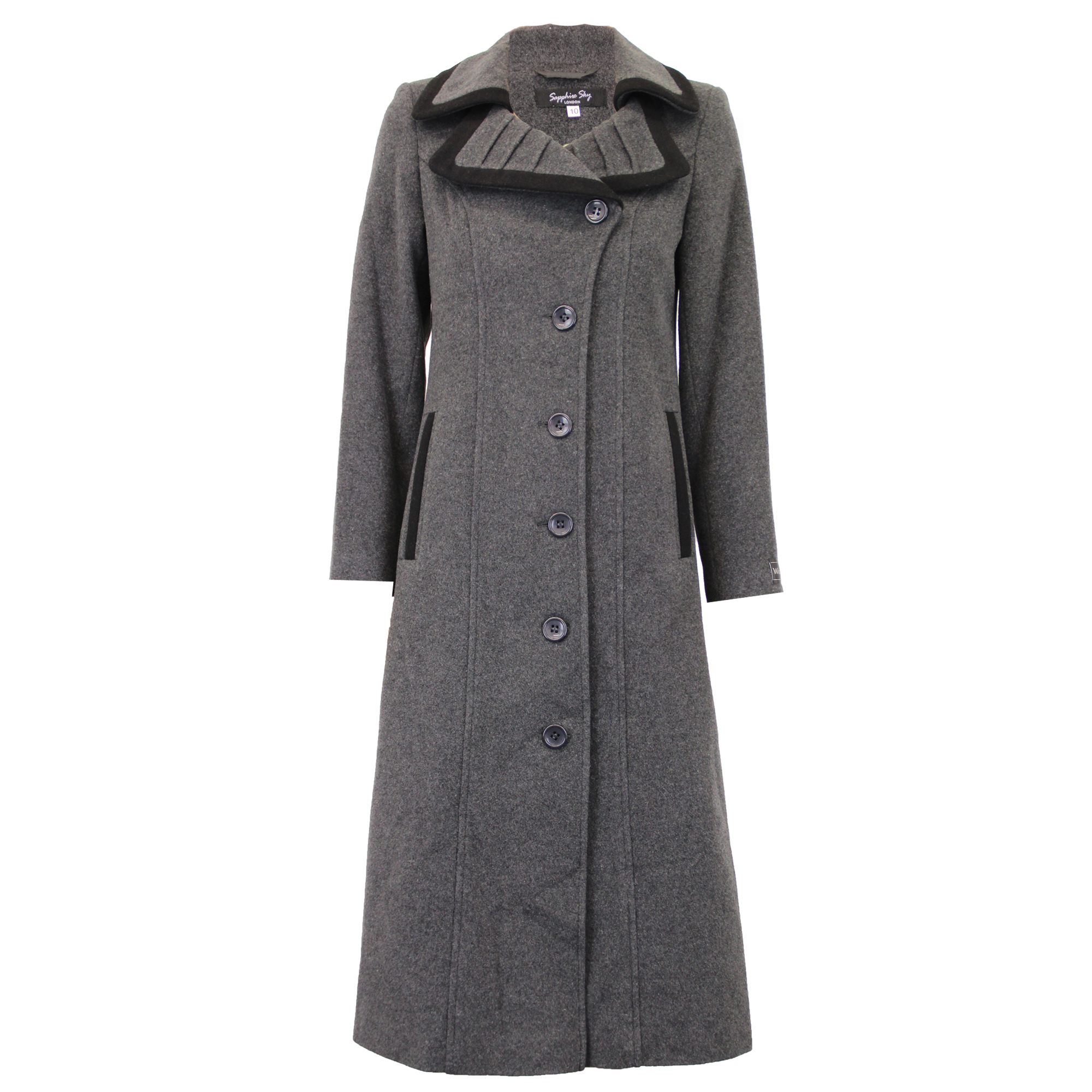Ladies-Wool-Cashmere-Coat-Women-Jacket-Outerwear-Trench-Overcoat-Winter-Lined thumbnail 45