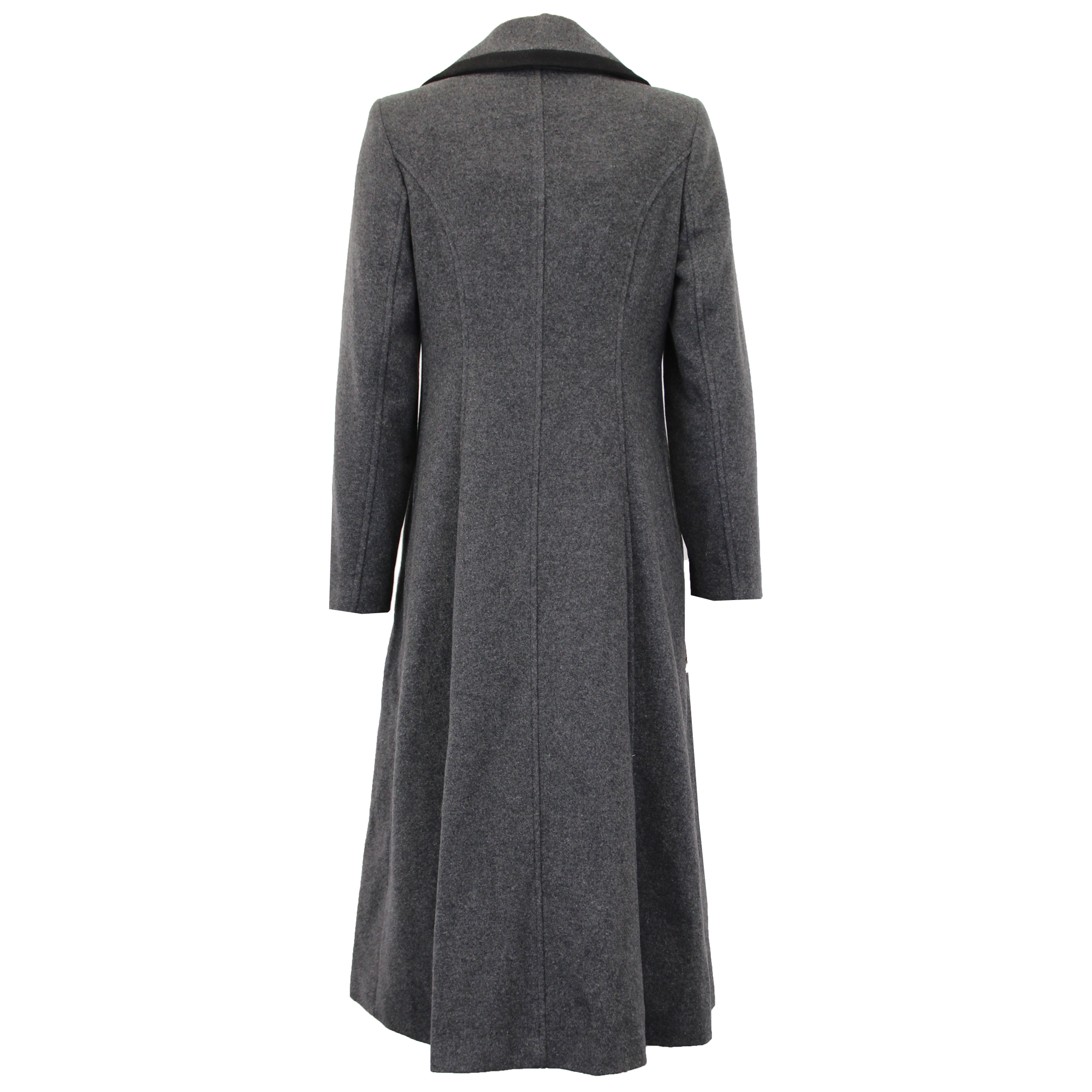 Ladies-Wool-Cashmere-Coat-Women-Jacket-Outerwear-Trench-Overcoat-Winter-Lined thumbnail 46