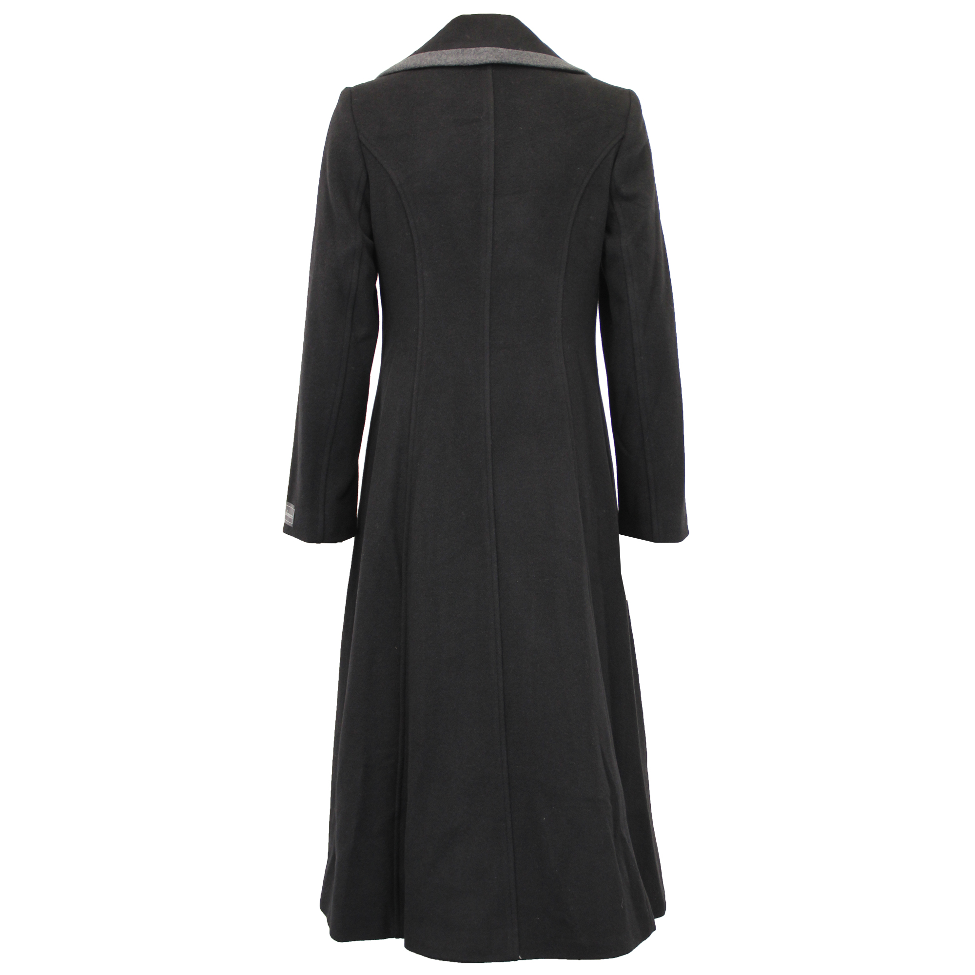 Ladies-Wool-Cashmere-Coat-Women-Jacket-Outerwear-Trench-Overcoat-Winter-Lined thumbnail 11