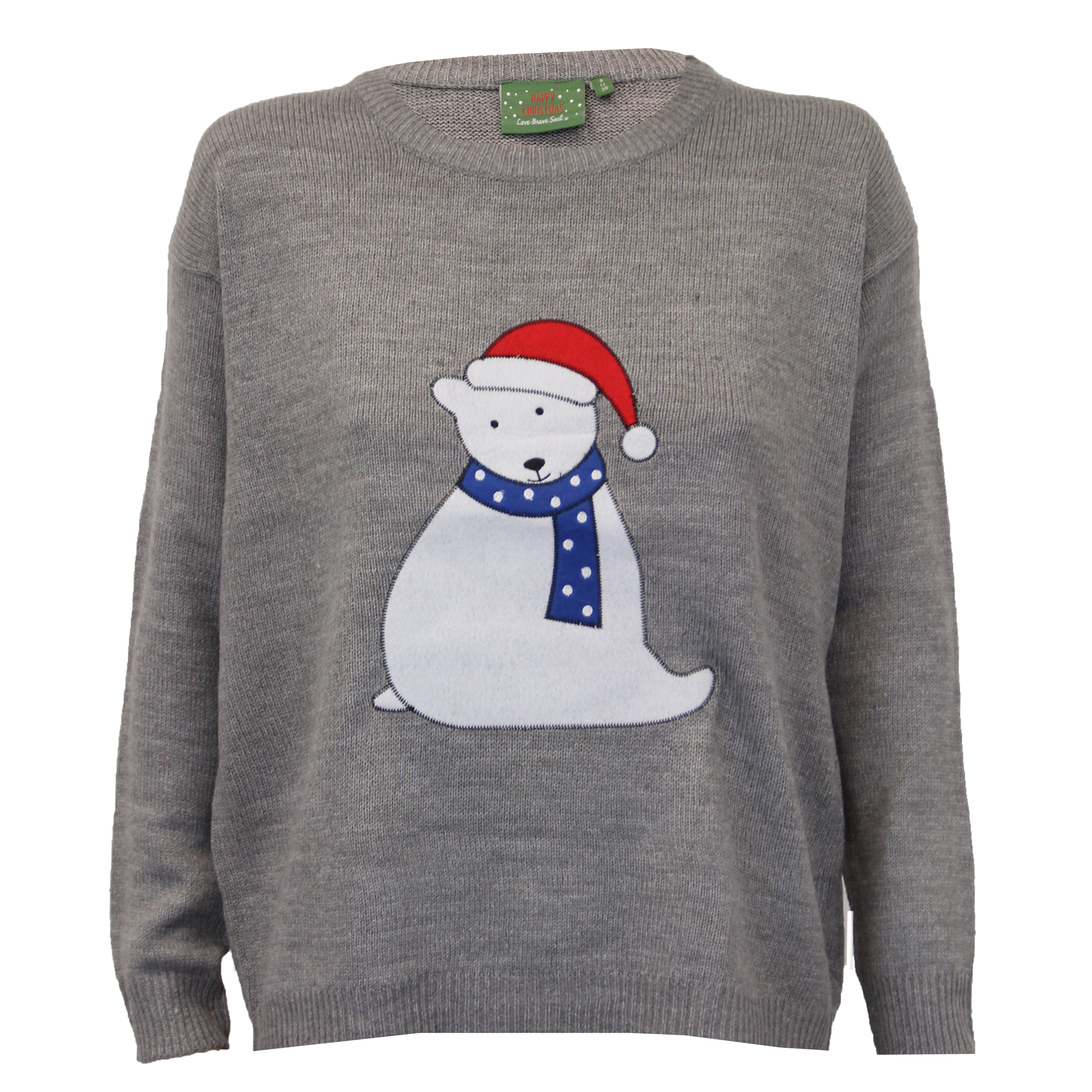 Ladies Christmas Jumpers Brave Soul Xmas Womens Novelty