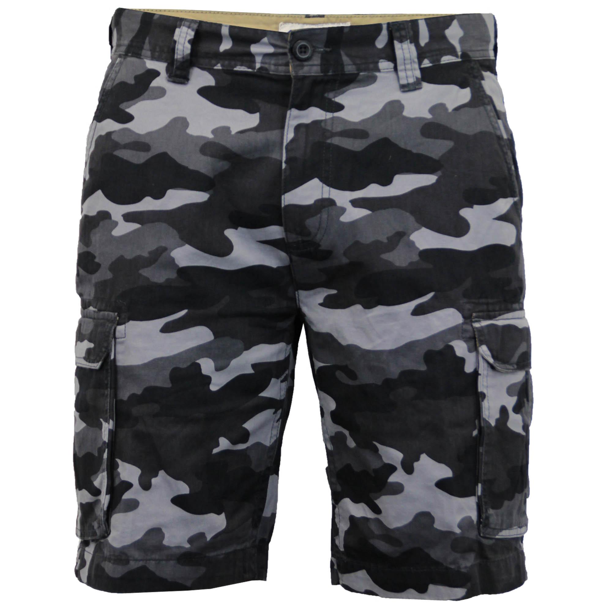 Para-Hombre-Pantalones-Cortos-Estilo-Cargo-De-Camuflaje-Combate-Largo-Hasta-La-Rodilla-Militar miniatura 2