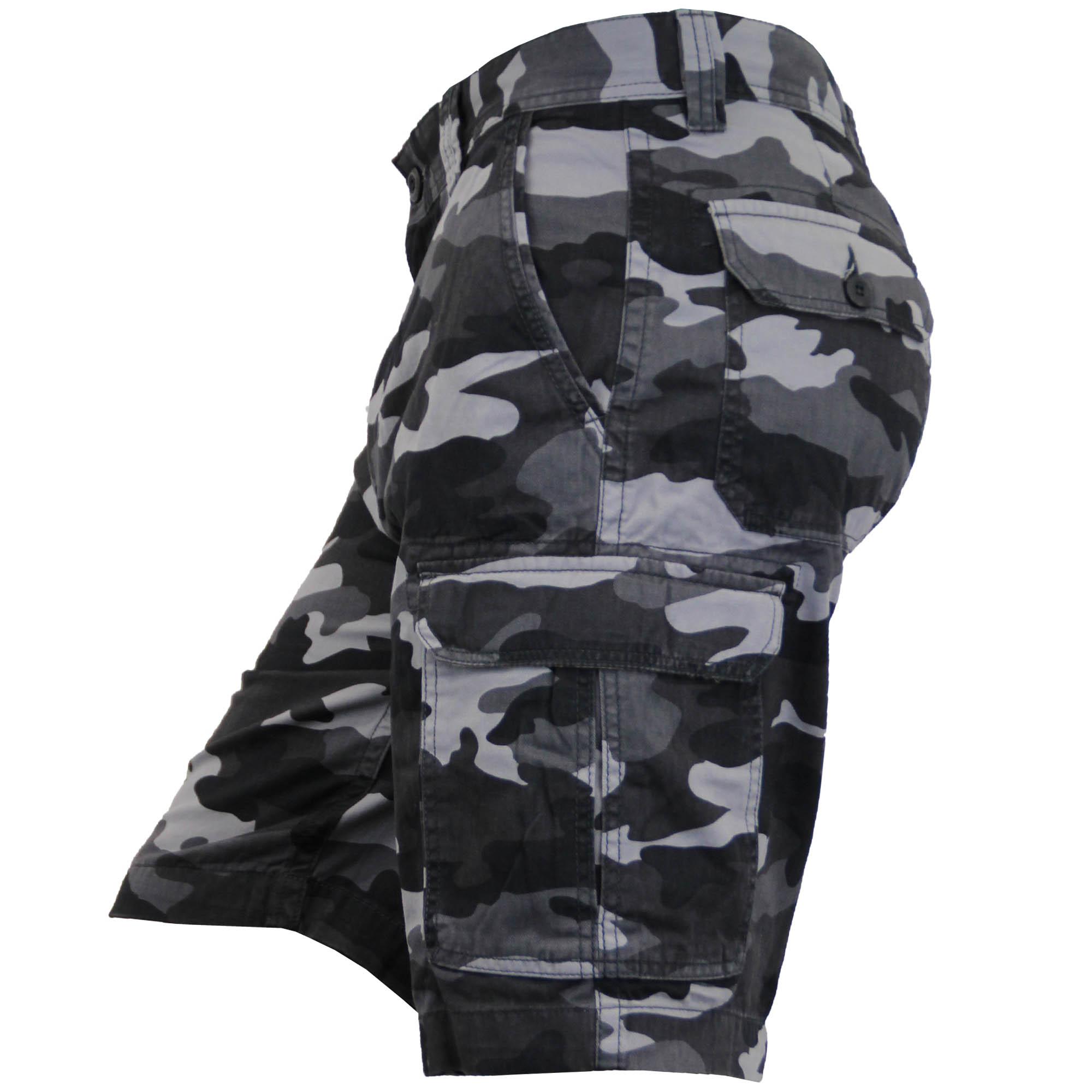 Para-Hombre-Pantalones-Cortos-Estilo-Cargo-De-Camuflaje-Combate-Largo-Hasta-La-Rodilla-Militar miniatura 3