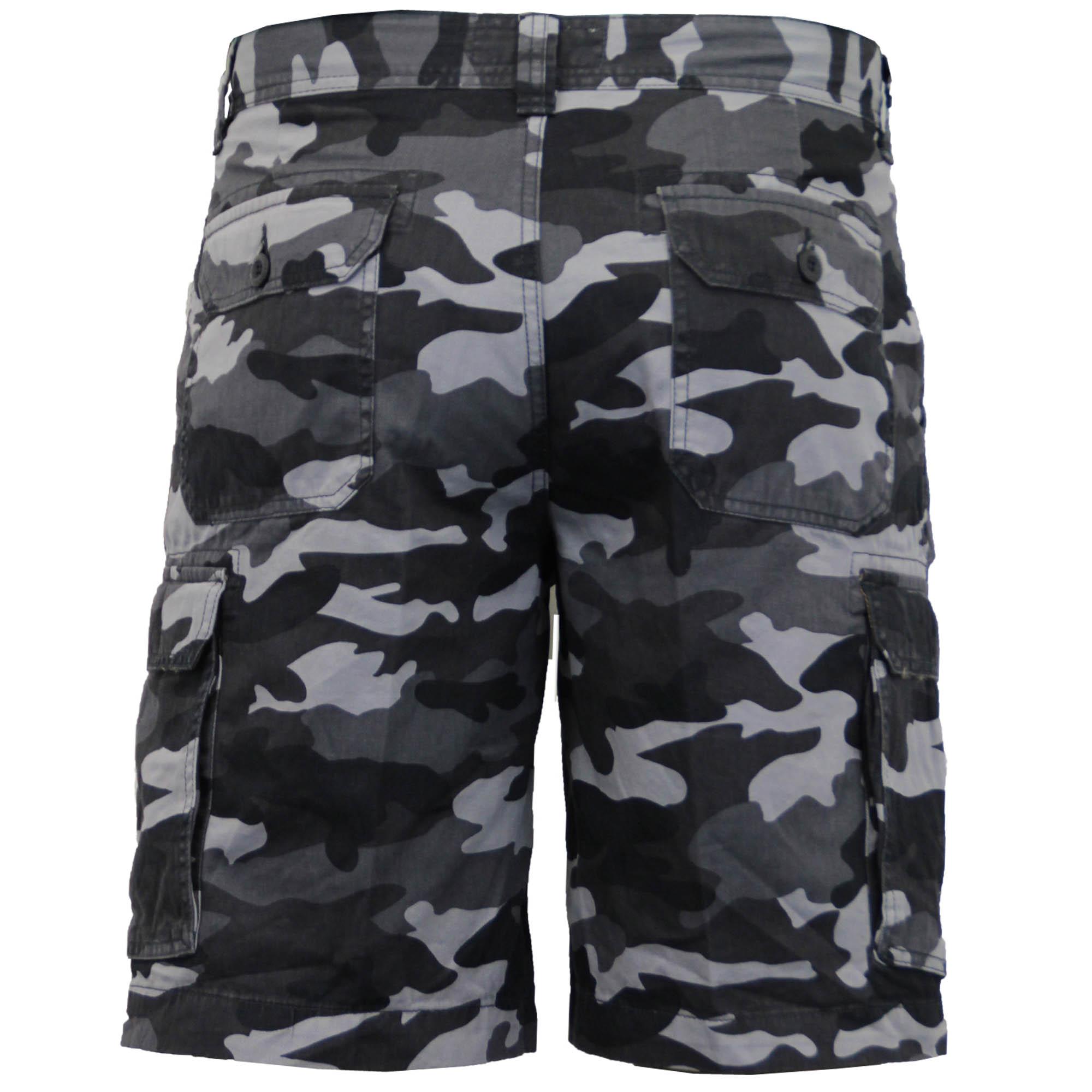 Para-Hombre-Pantalones-Cortos-Estilo-Cargo-De-Camuflaje-Combate-Largo-Hasta-La-Rodilla-Militar miniatura 4