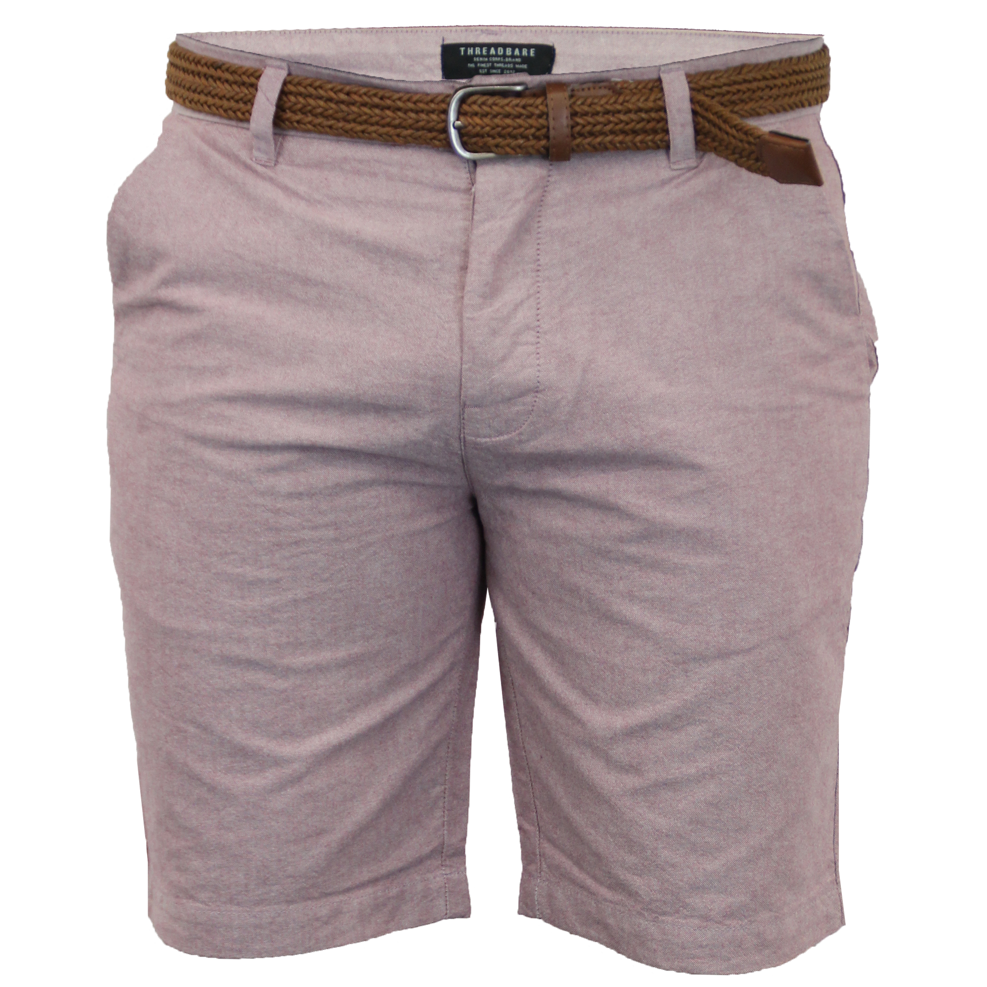 Mens-Chino-Shorts-Threadbare-Cotton-Oxford-Belted-Loyalty-amp-Faith-Seven-Series thumbnail 43