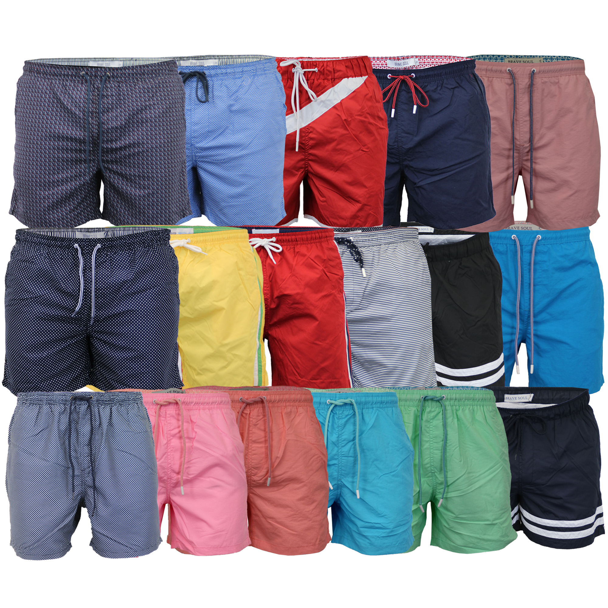 Mens-Swim-Board-Shorts-By-Brave-Soul-Mesh-Lined-New thumbnail 5
